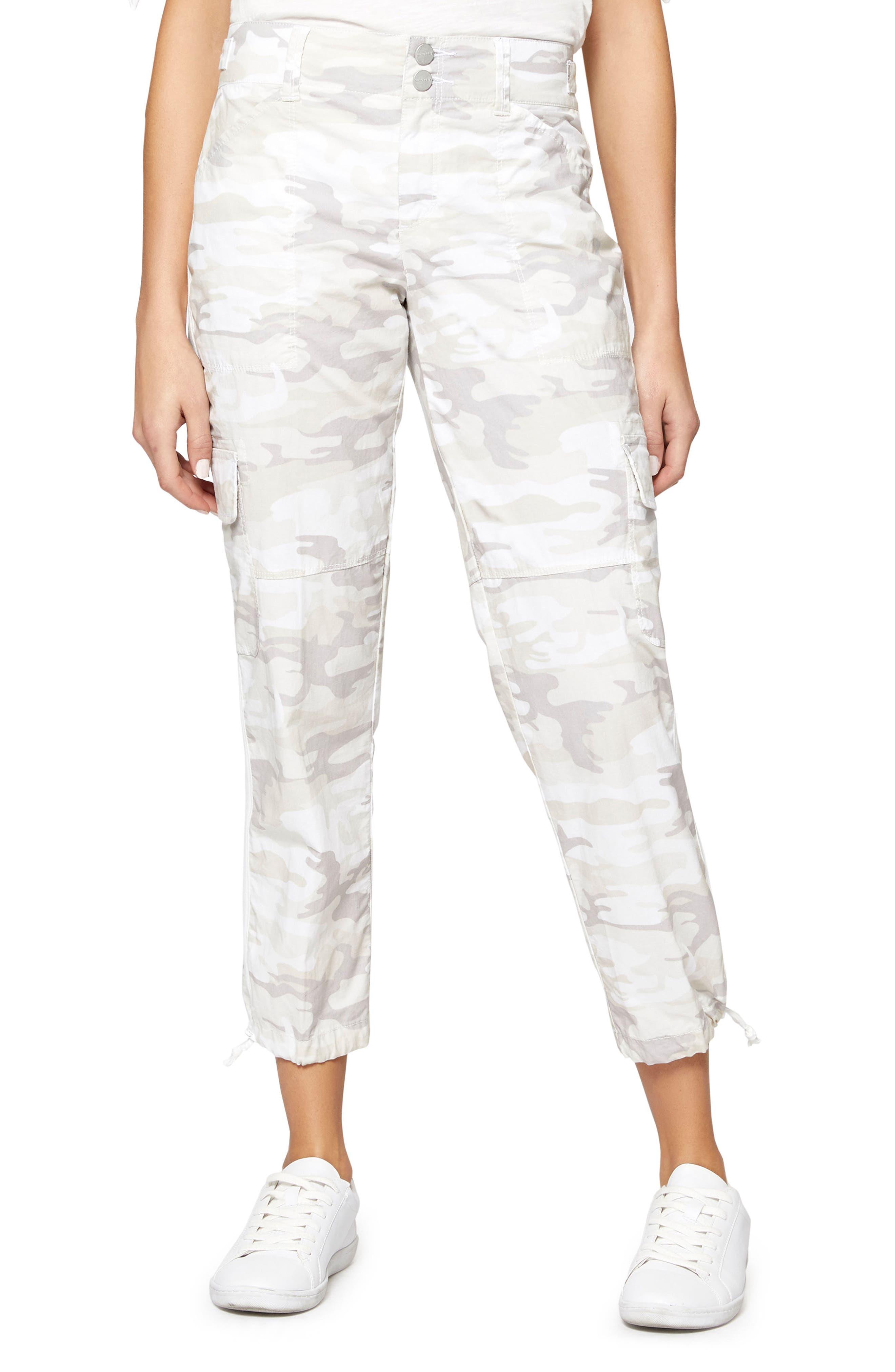 Terrain Linen Crop Cargo Pants,                             Main thumbnail 2, color,