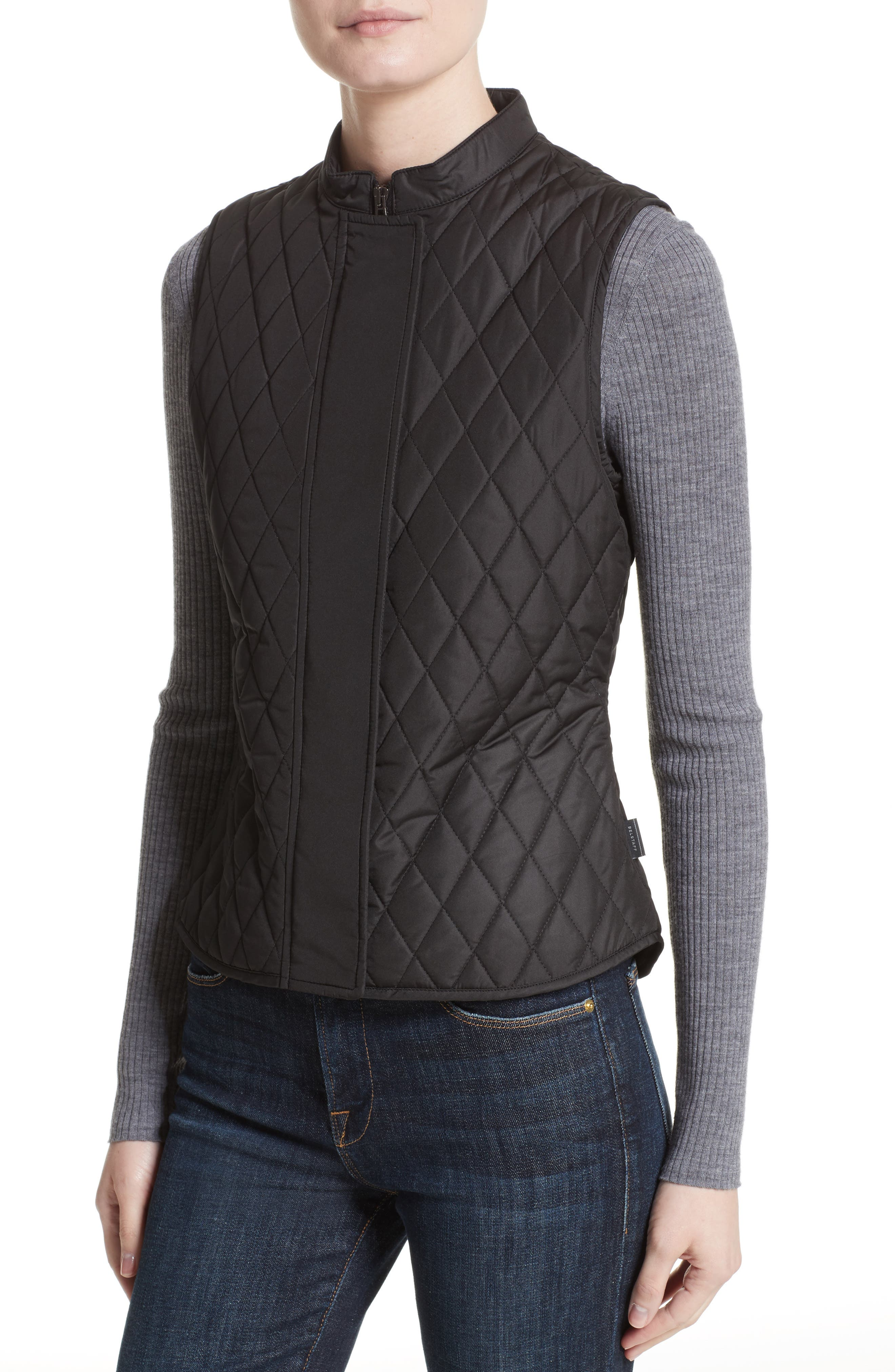 Westwell Technical Quilted Vest,                             Alternate thumbnail 4, color,                             001