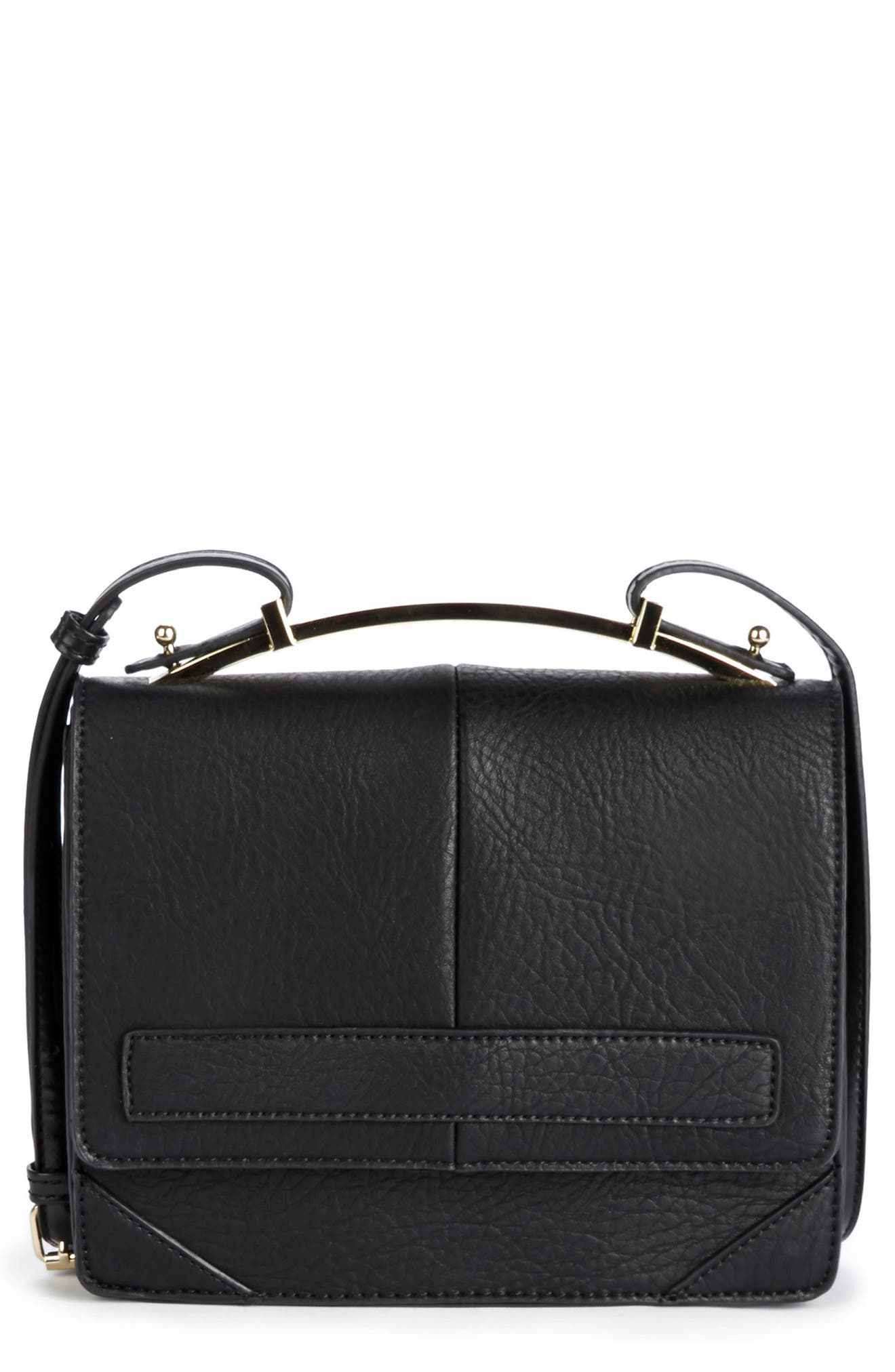 Krista Faux Leather Crossbody Bag,                         Main,                         color, 001