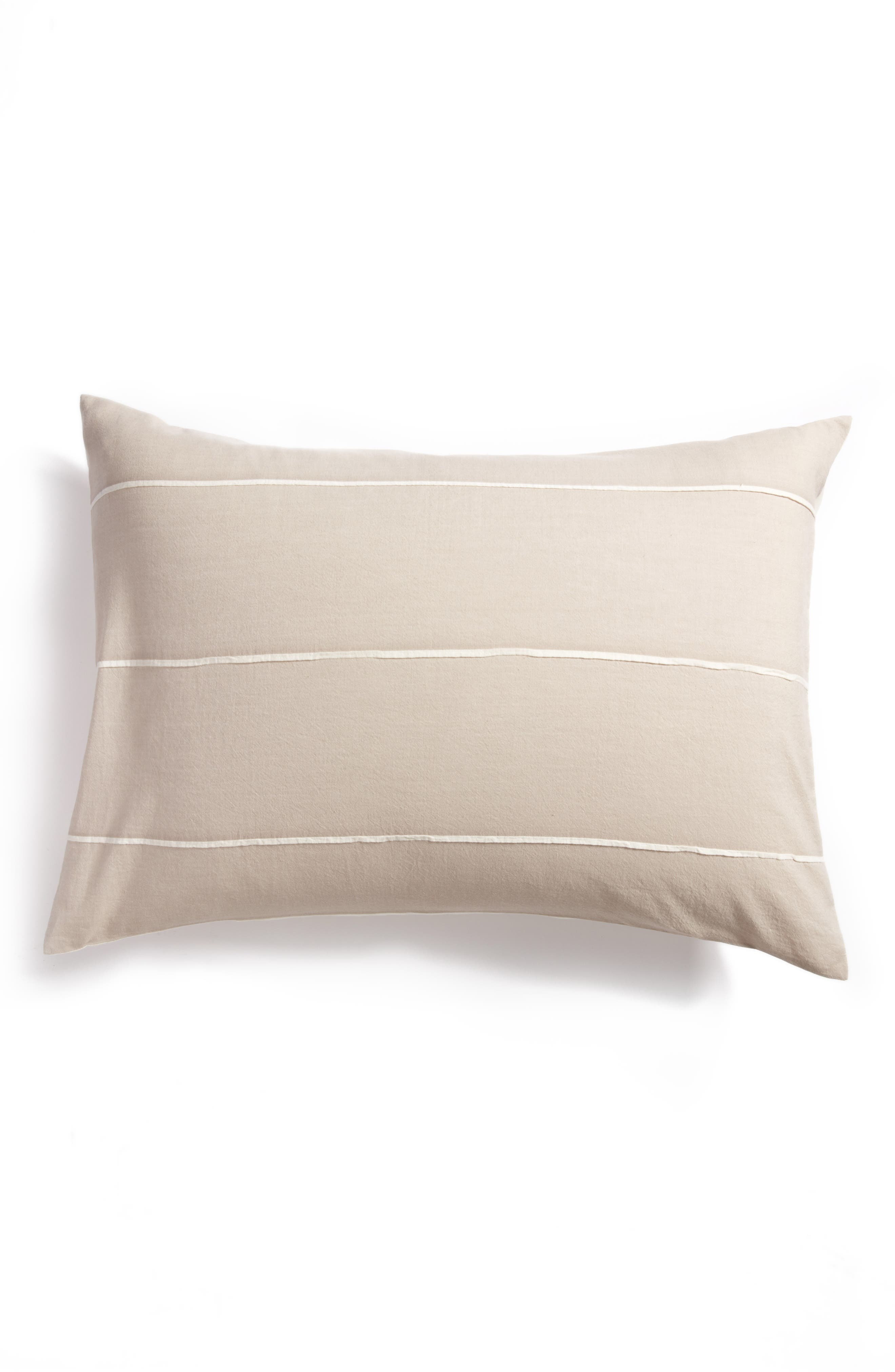 Textured Stripe Pillow Sham,                             Main thumbnail 1, color,                             020
