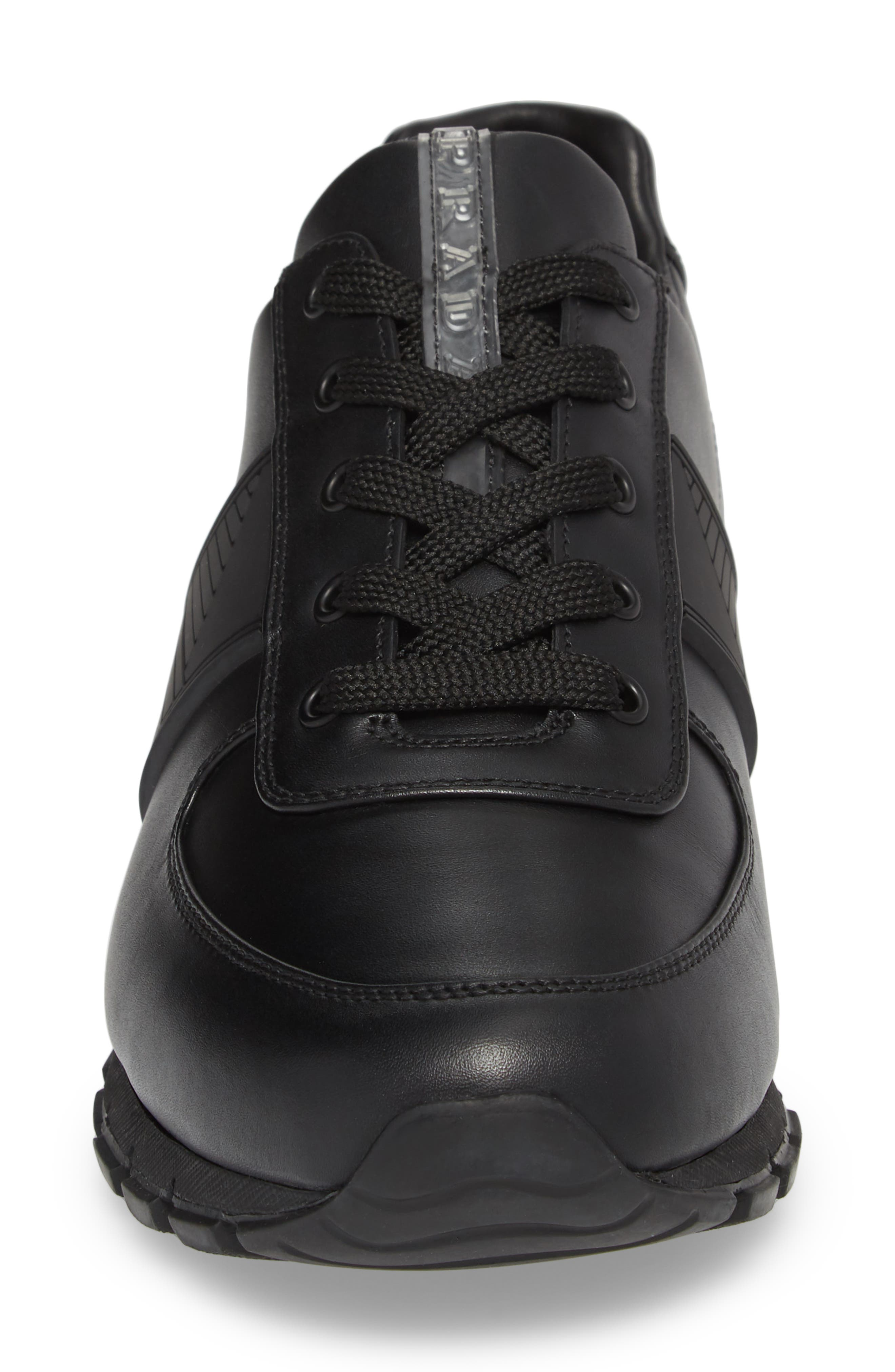 PRADA,                             Linea Rossa Sneaker,                             Alternate thumbnail 4, color,                             001