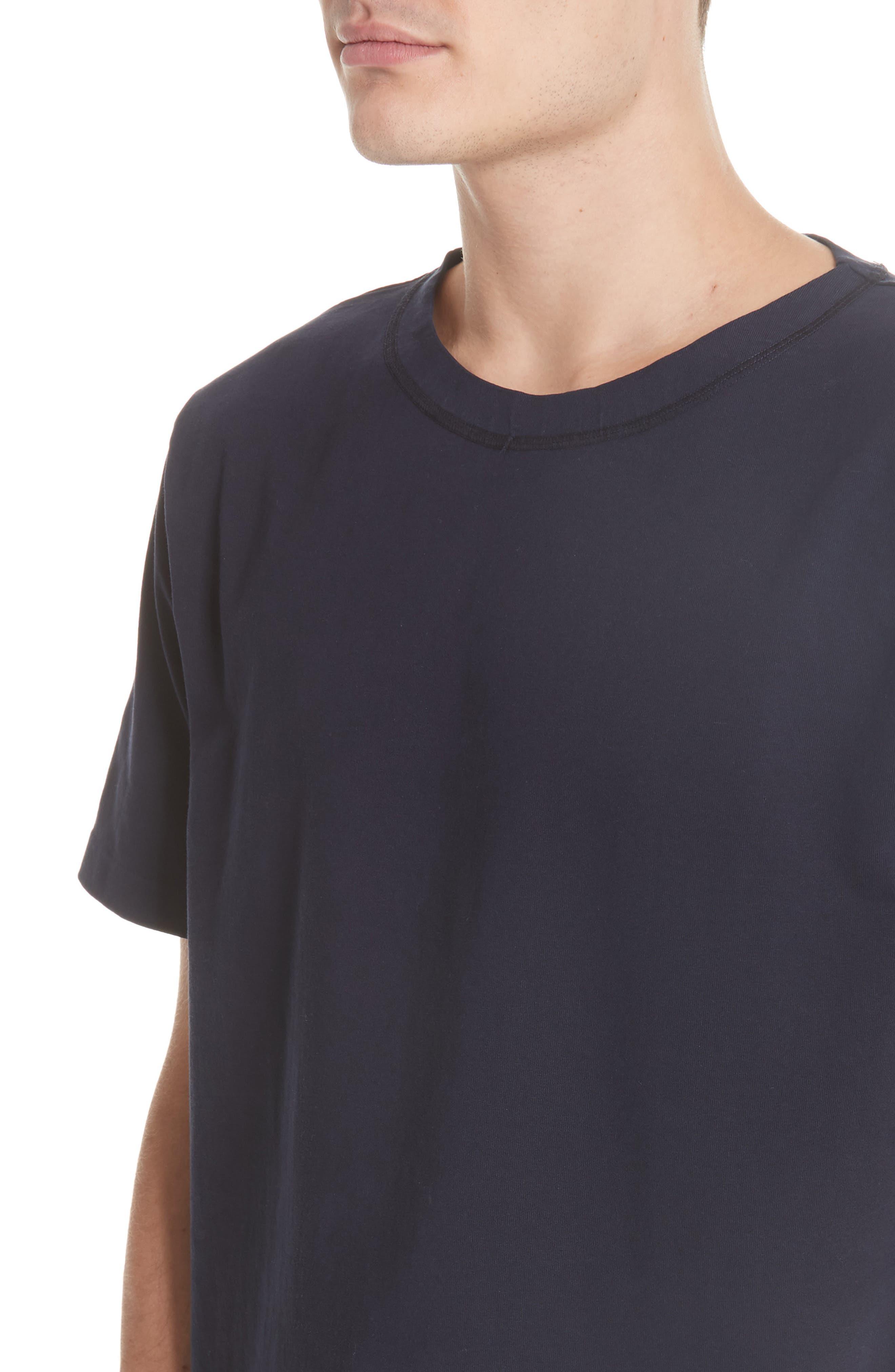 Clean Box T-Shirt,                             Alternate thumbnail 4, color,                             NAVY