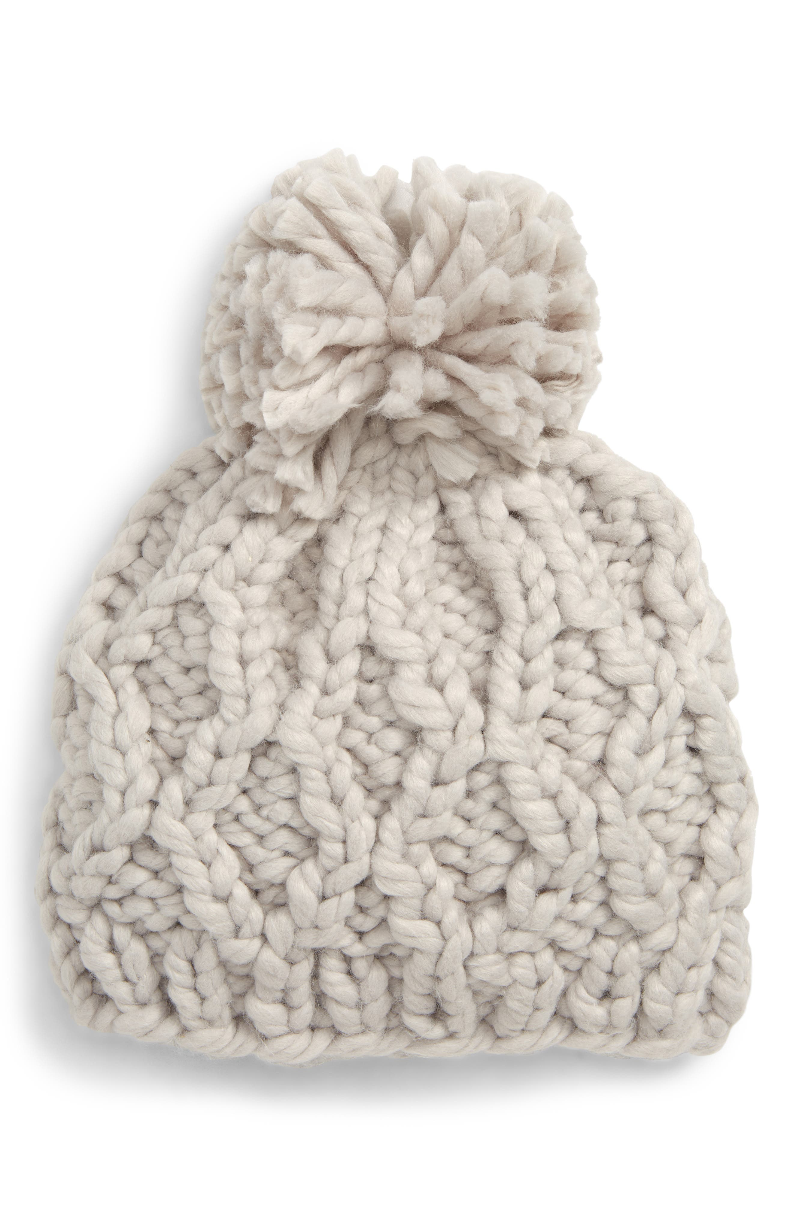 Chunky Cable Knit Beanie,                             Main thumbnail 1, color,                             020