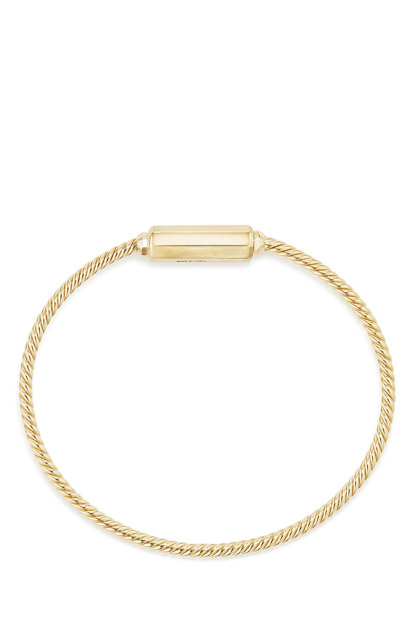 Barrels Bracelet with Diamonds in 18K Gold,                             Alternate thumbnail 2, color,                             YELLOW GOLD