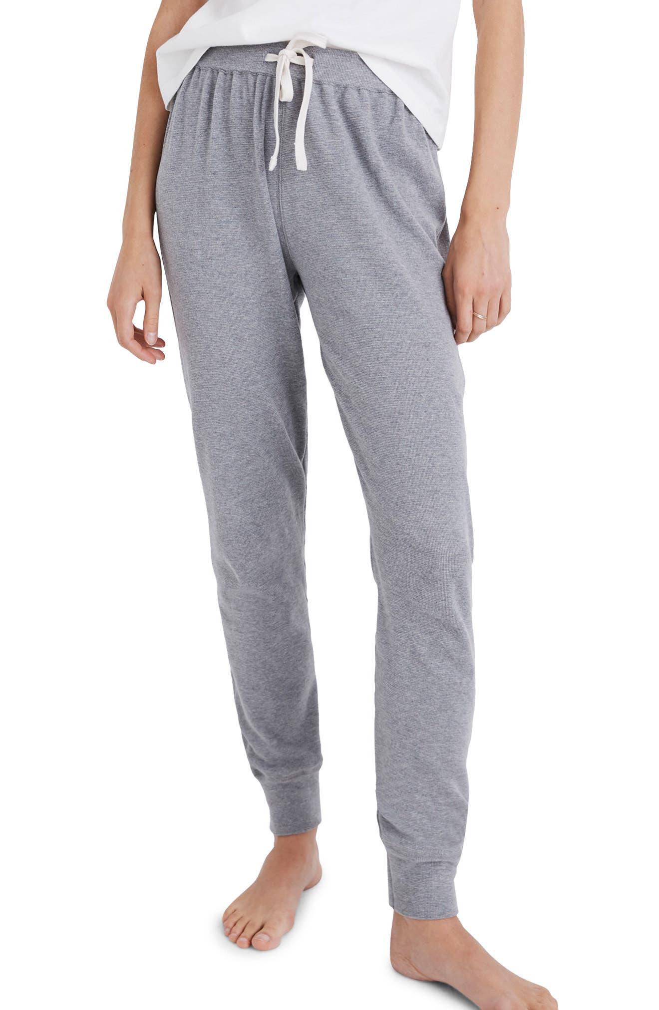 Honeycomb Pajama Sweatpants, Main, color, HEATHER PEPPER