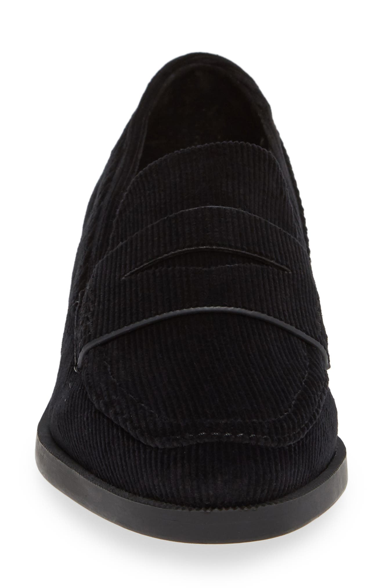 Diplomat Penny Loafer,                             Alternate thumbnail 4, color,                             BLACK FABRIC