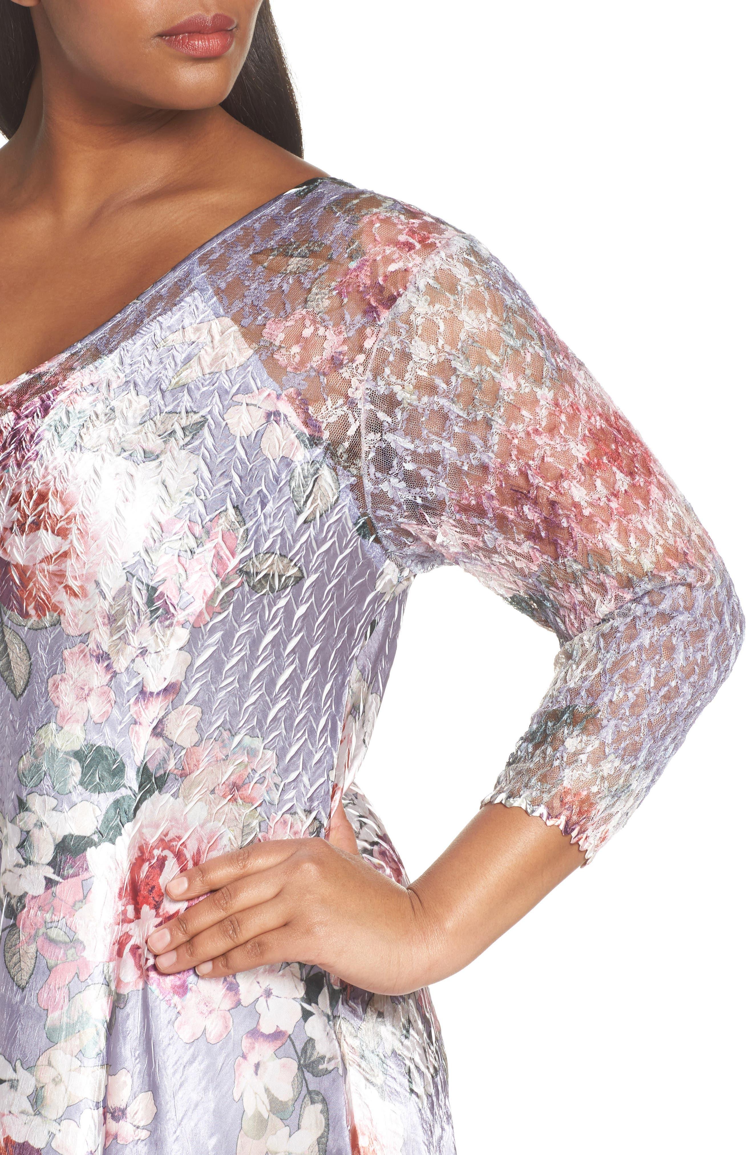 Charmeuse A-Line Dress,                             Alternate thumbnail 4, color,
