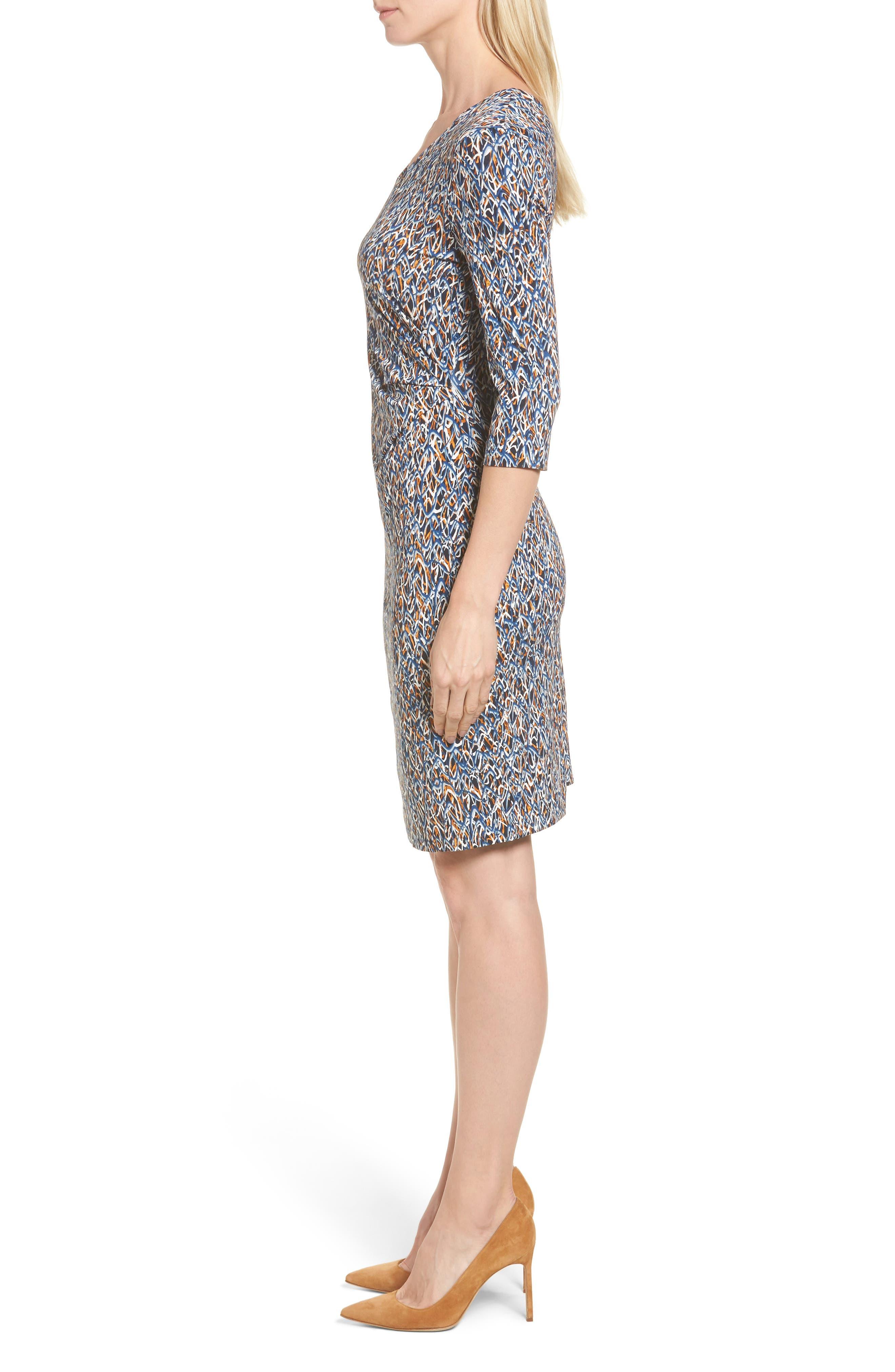 Epona Print Sheath Dress,                             Alternate thumbnail 3, color,                             461