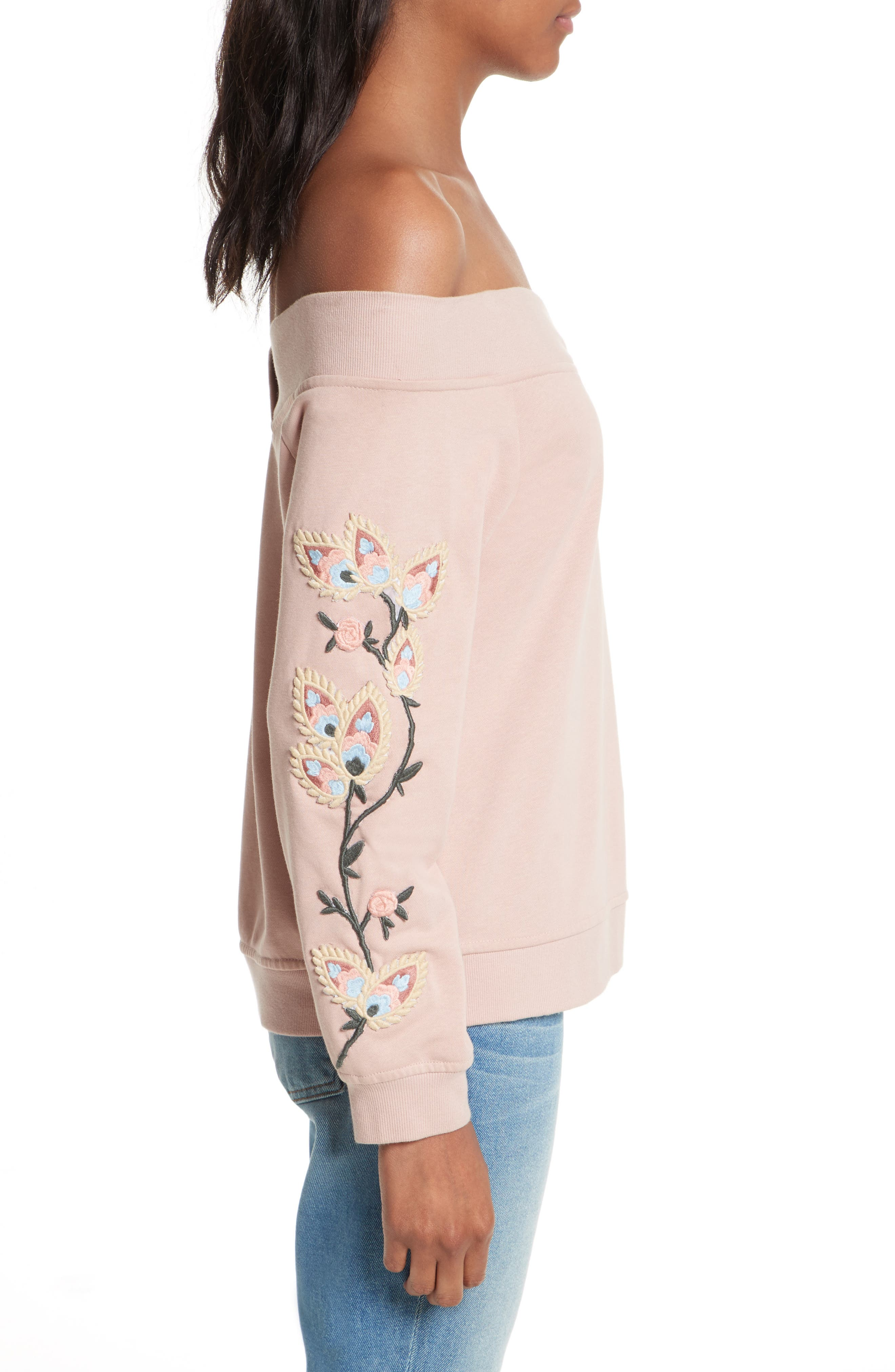 Macey Embroidered Sweatshirt,                             Alternate thumbnail 3, color,                             665