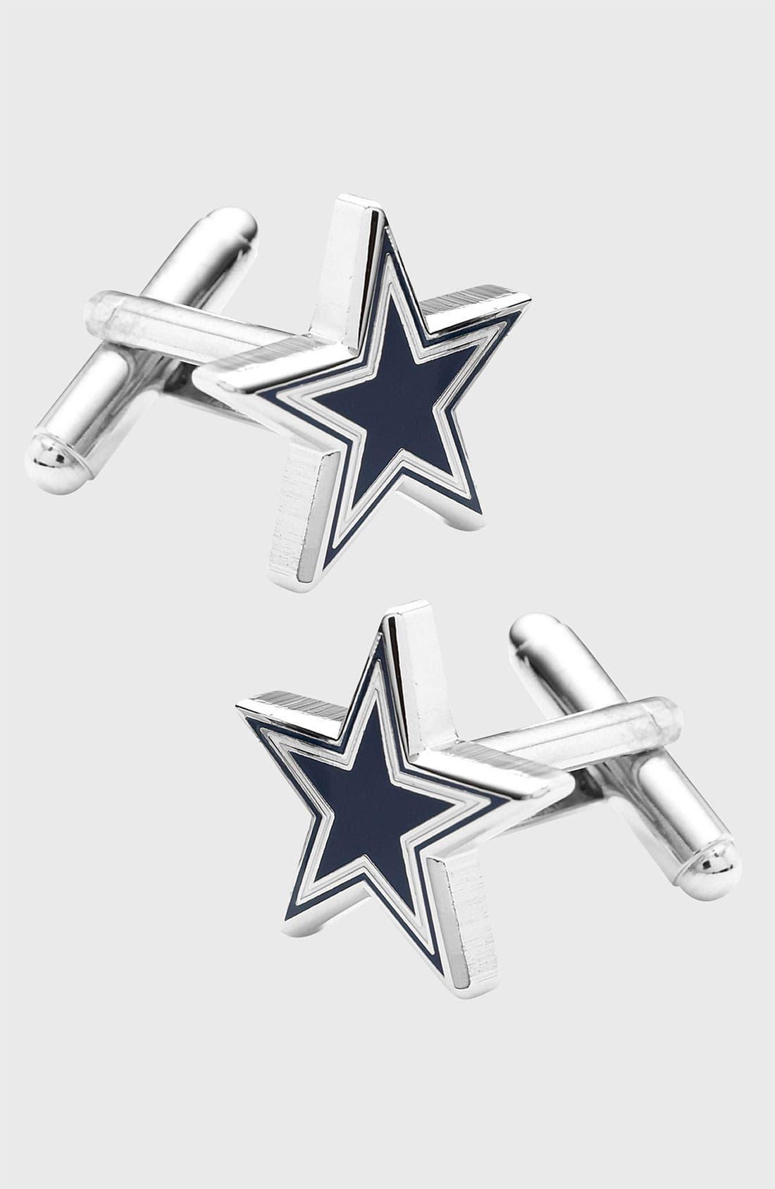 'Dallas Cowboys' Cuff Links,                         Main,                         color, NAVY