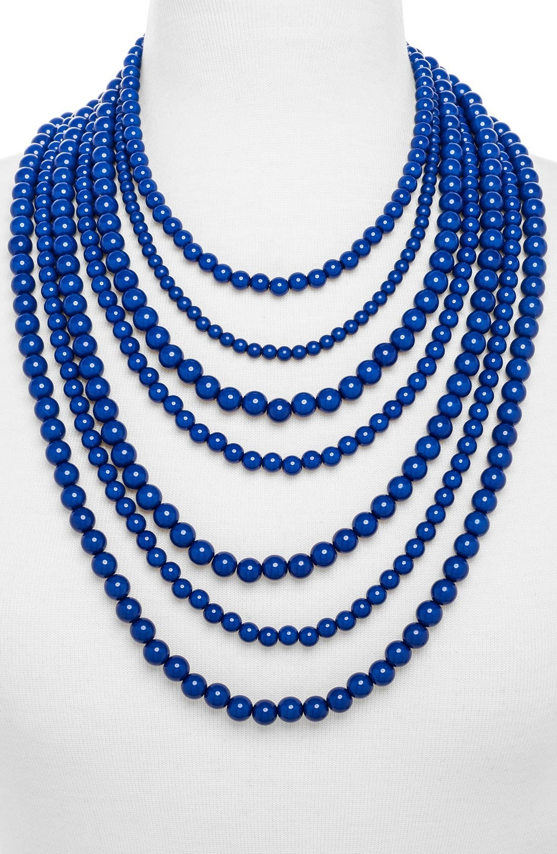 'Bold' Multistrand Beaded Statement Necklace,                             Alternate thumbnail 25, color,