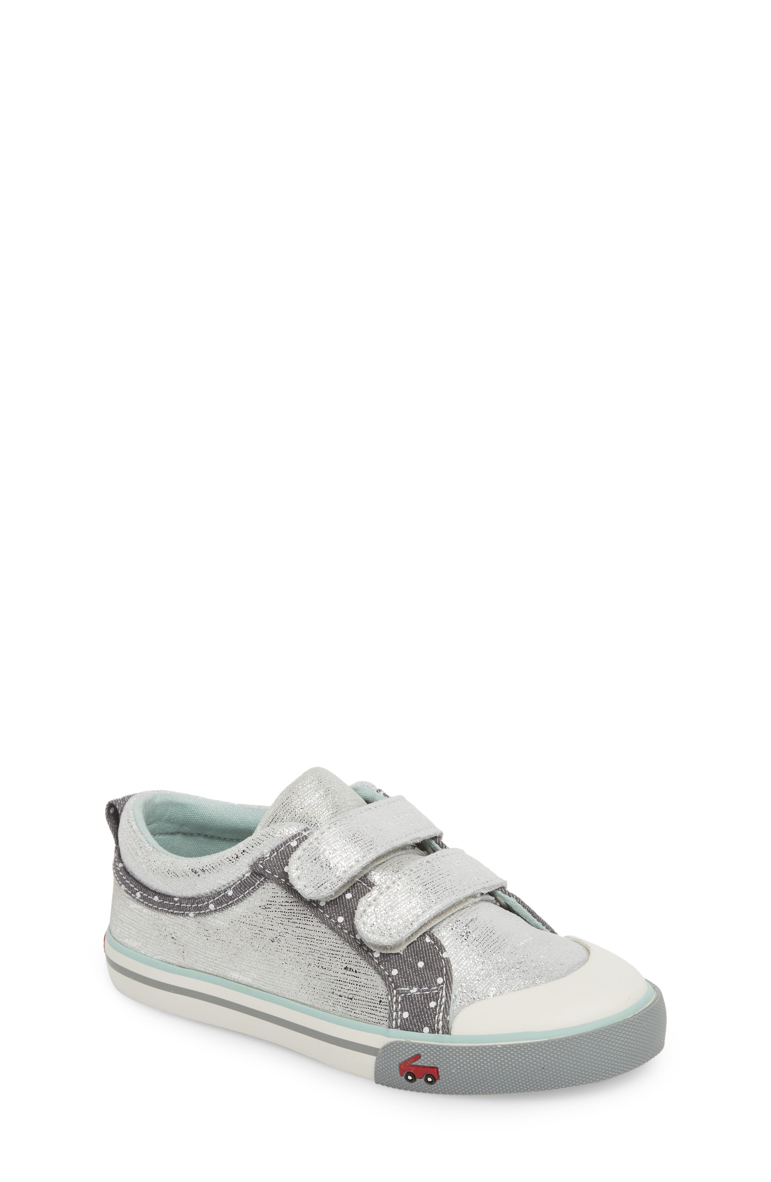 Robyne Sneaker,                             Main thumbnail 1, color,                             SILVER LEATHER
