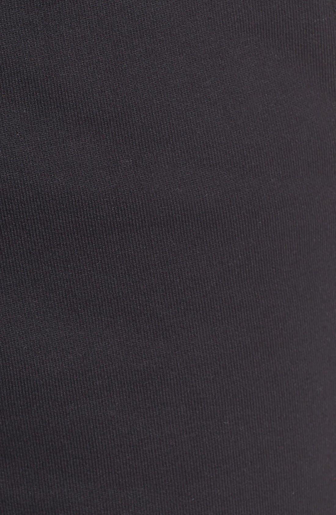 'NSW' Logo French Terry Shorts,                             Alternate thumbnail 3, color,                             BLACK/ WHITE