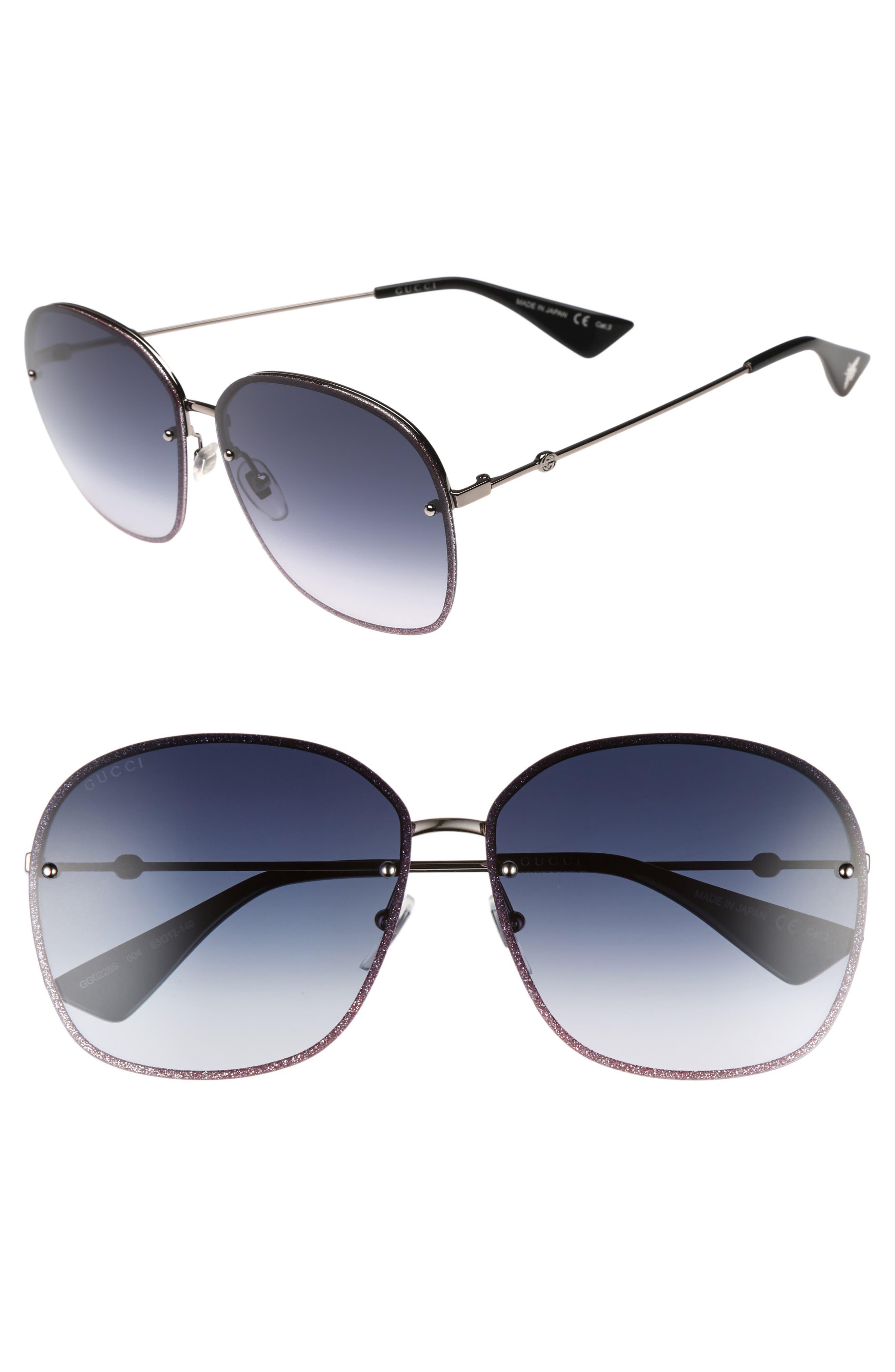 GUCCI 63mm Oversize Square Sunglasses, Main, color, 040