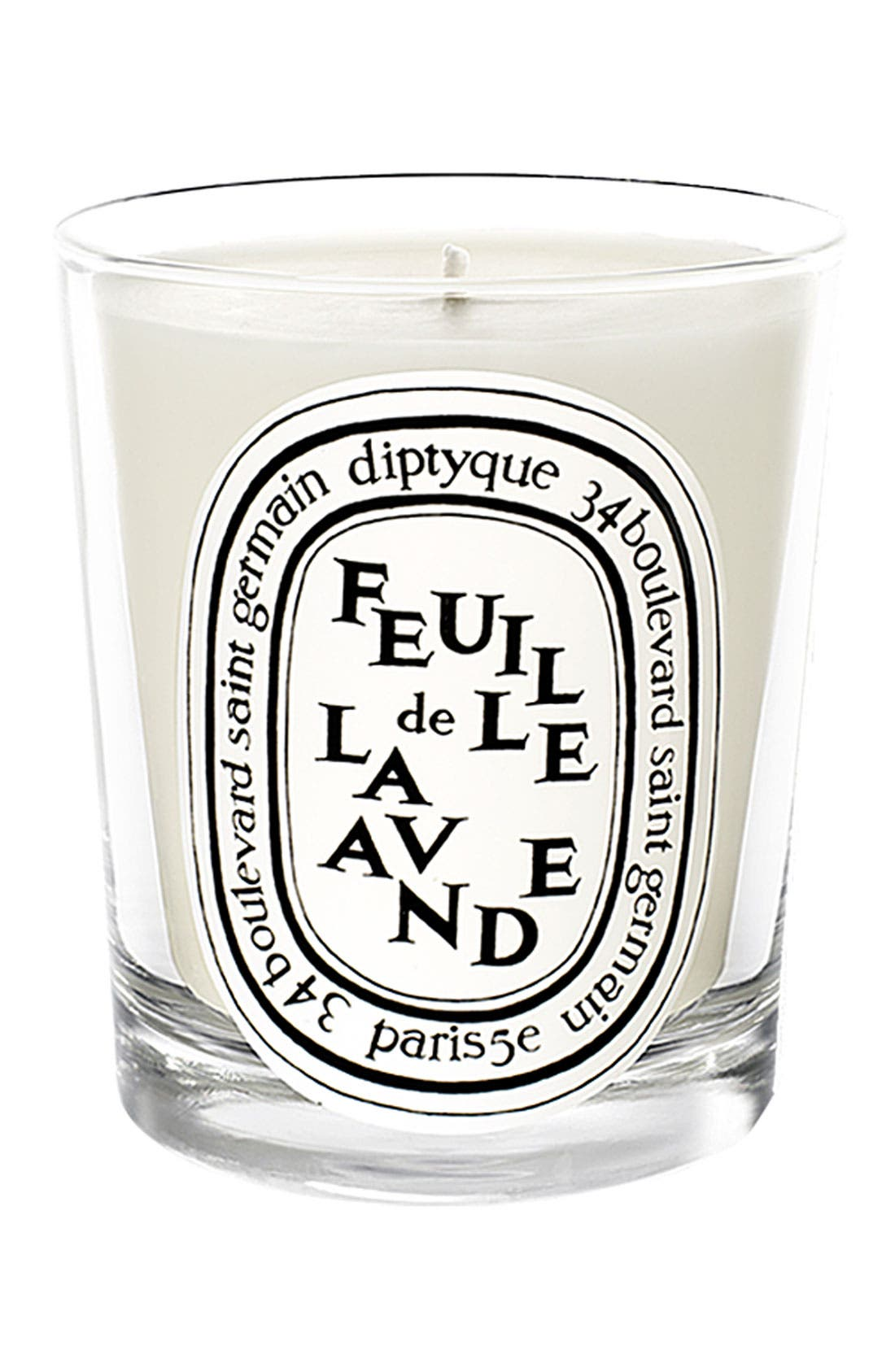 Feuille de Lavande/Lavender Leaf Scented Candle,                             Main thumbnail 1, color,                             NO COLOR