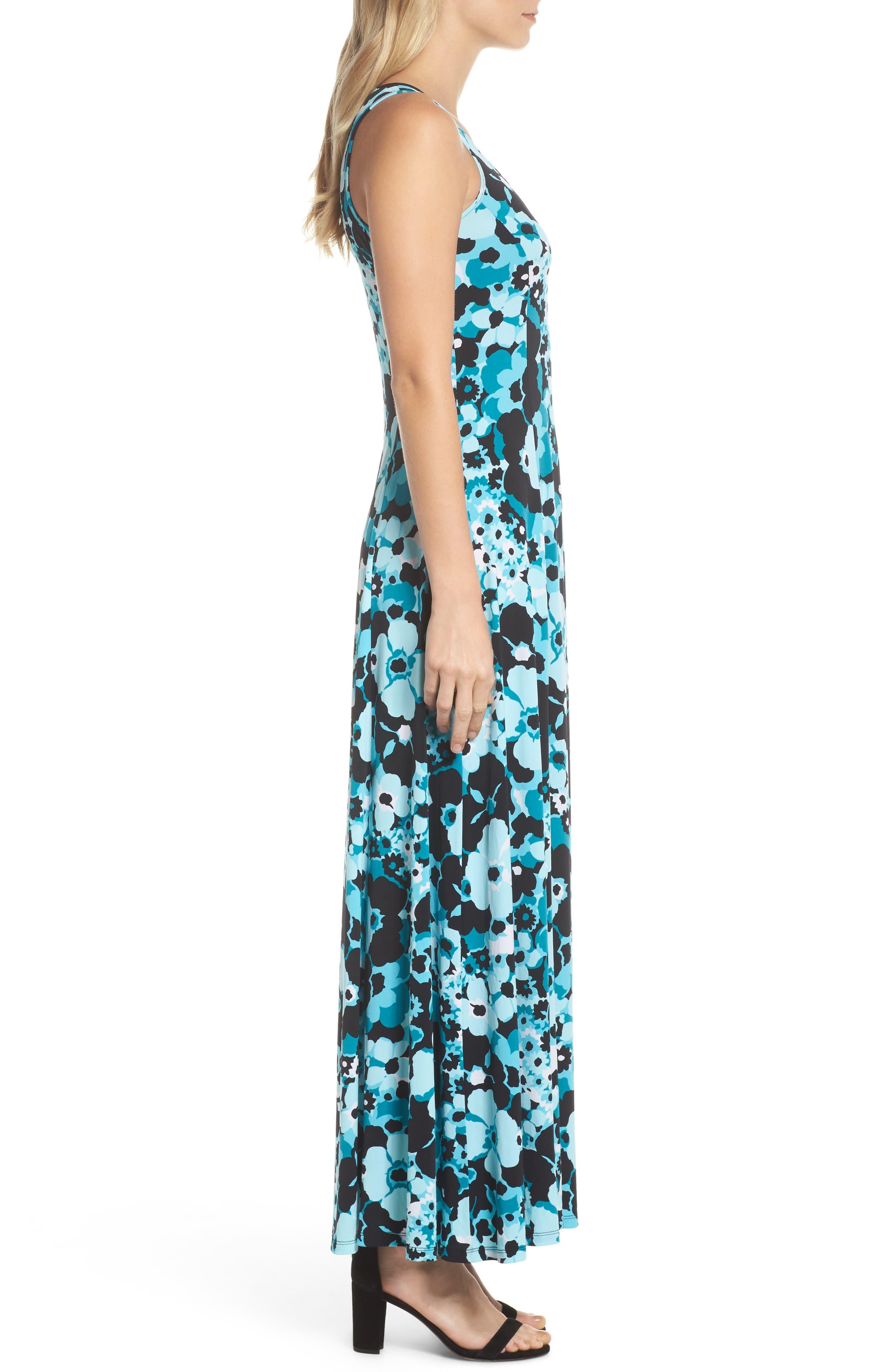 Spring Floral Maxi Dress,                             Alternate thumbnail 3, color,                             494