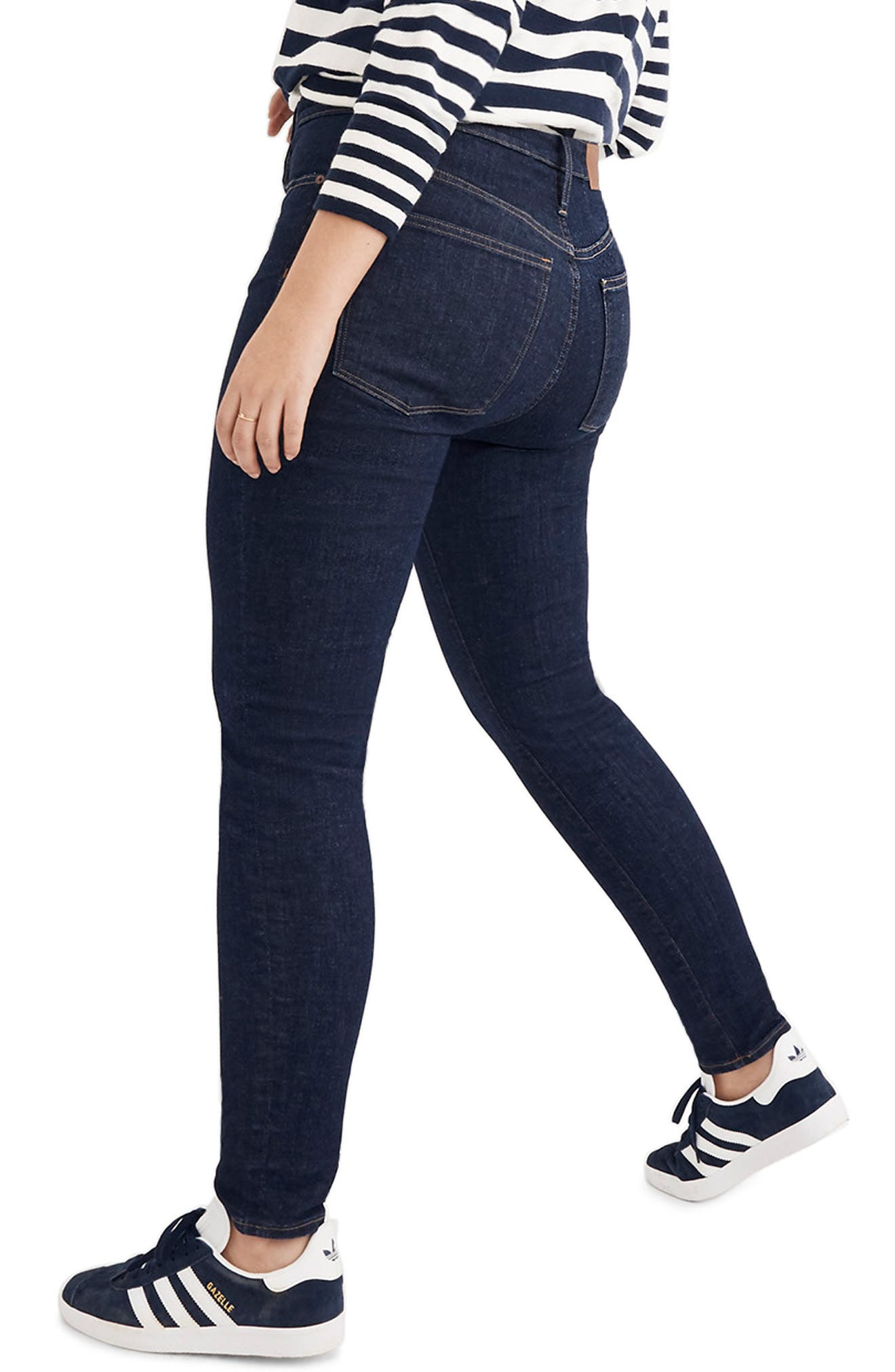 Curvy High Waist Skinny Jeans,                             Alternate thumbnail 9, color,                             LUCILLE WASH