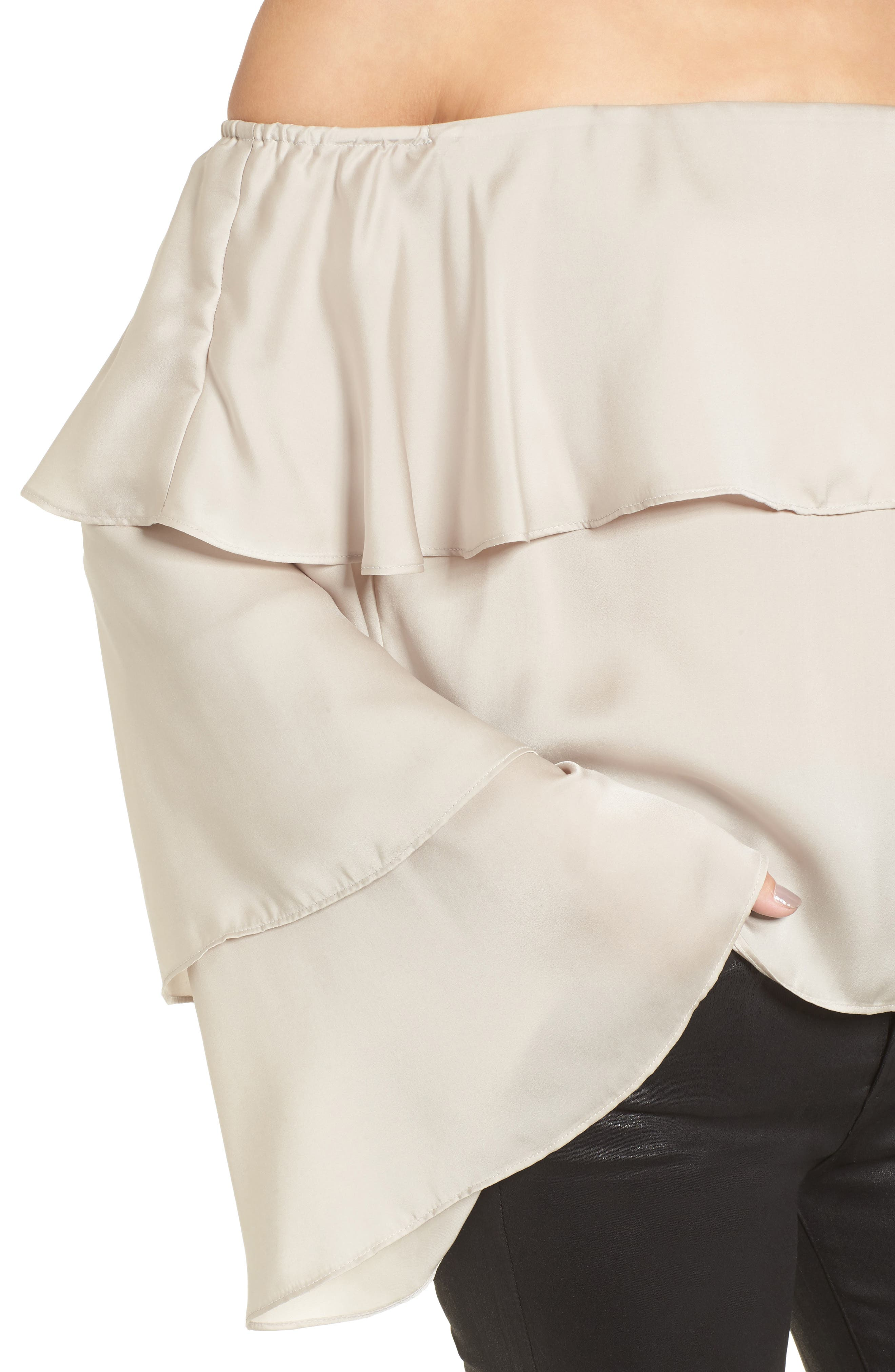 Off the Shoulder Ruffle Top,                             Alternate thumbnail 4, color,                             050