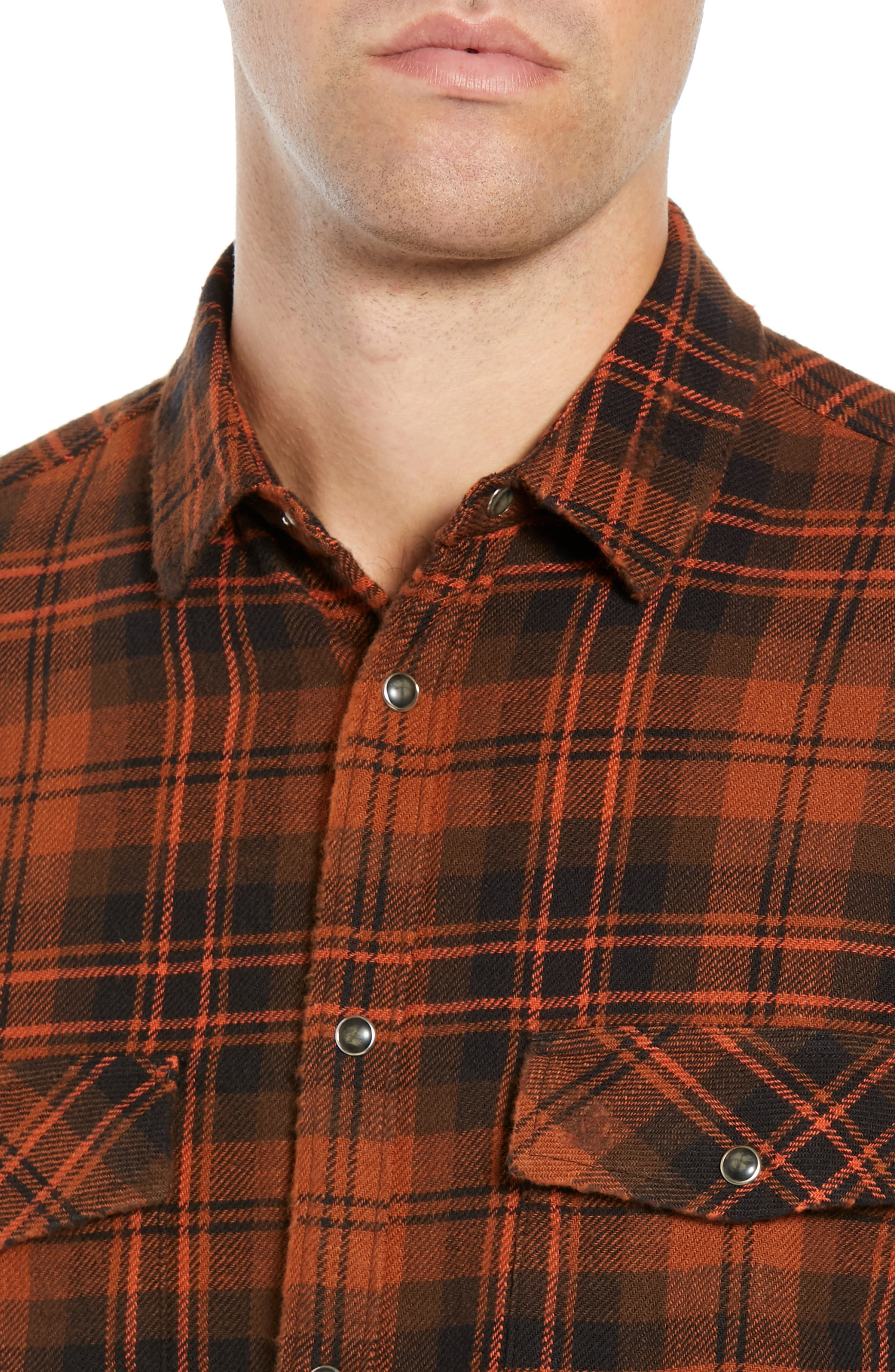 Destroyed Check Flannel Shirt,                             Alternate thumbnail 2, color,                             001