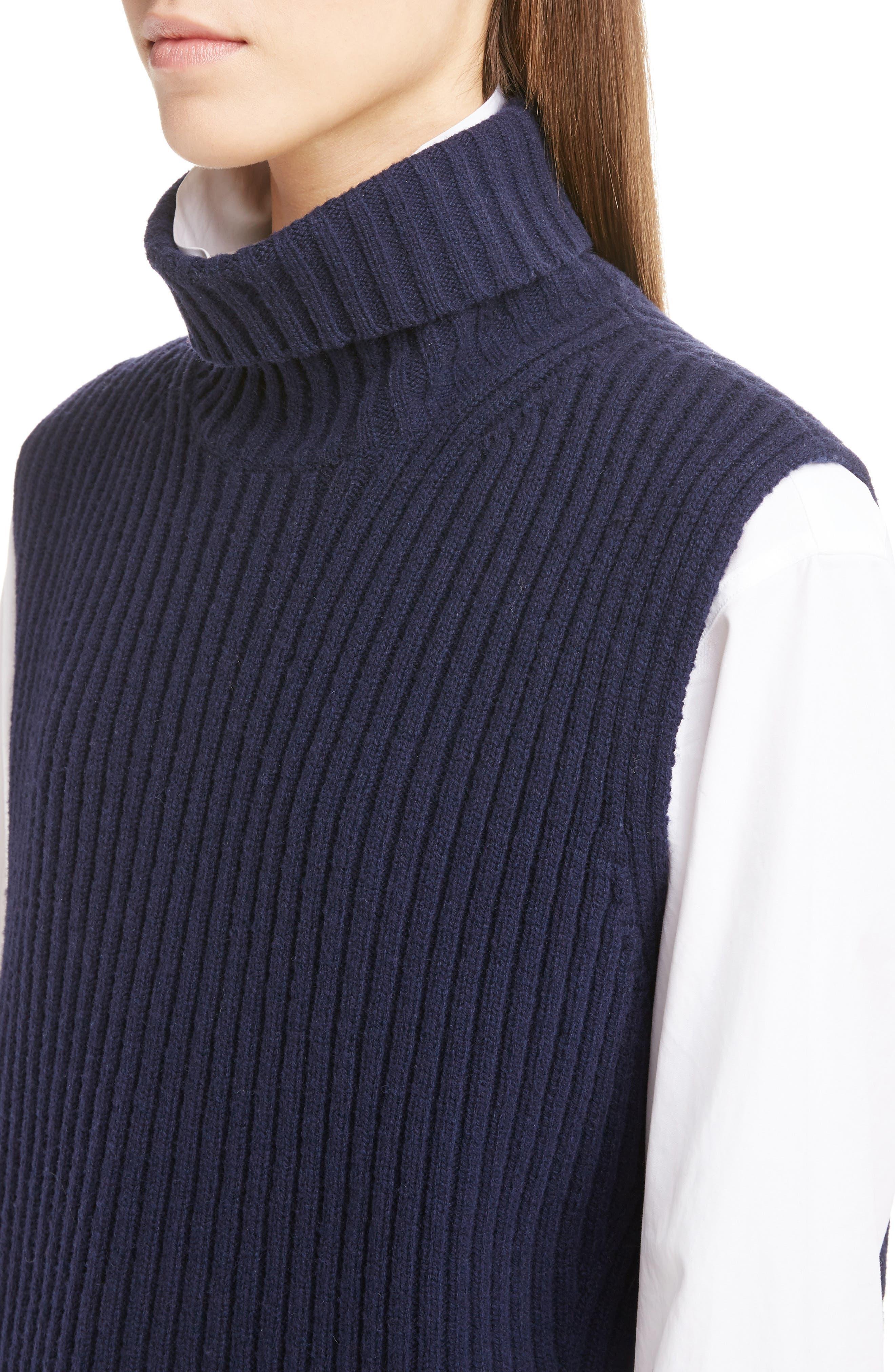 Sleeveless Turtleneck Sweater,                             Alternate thumbnail 4, color,                             410