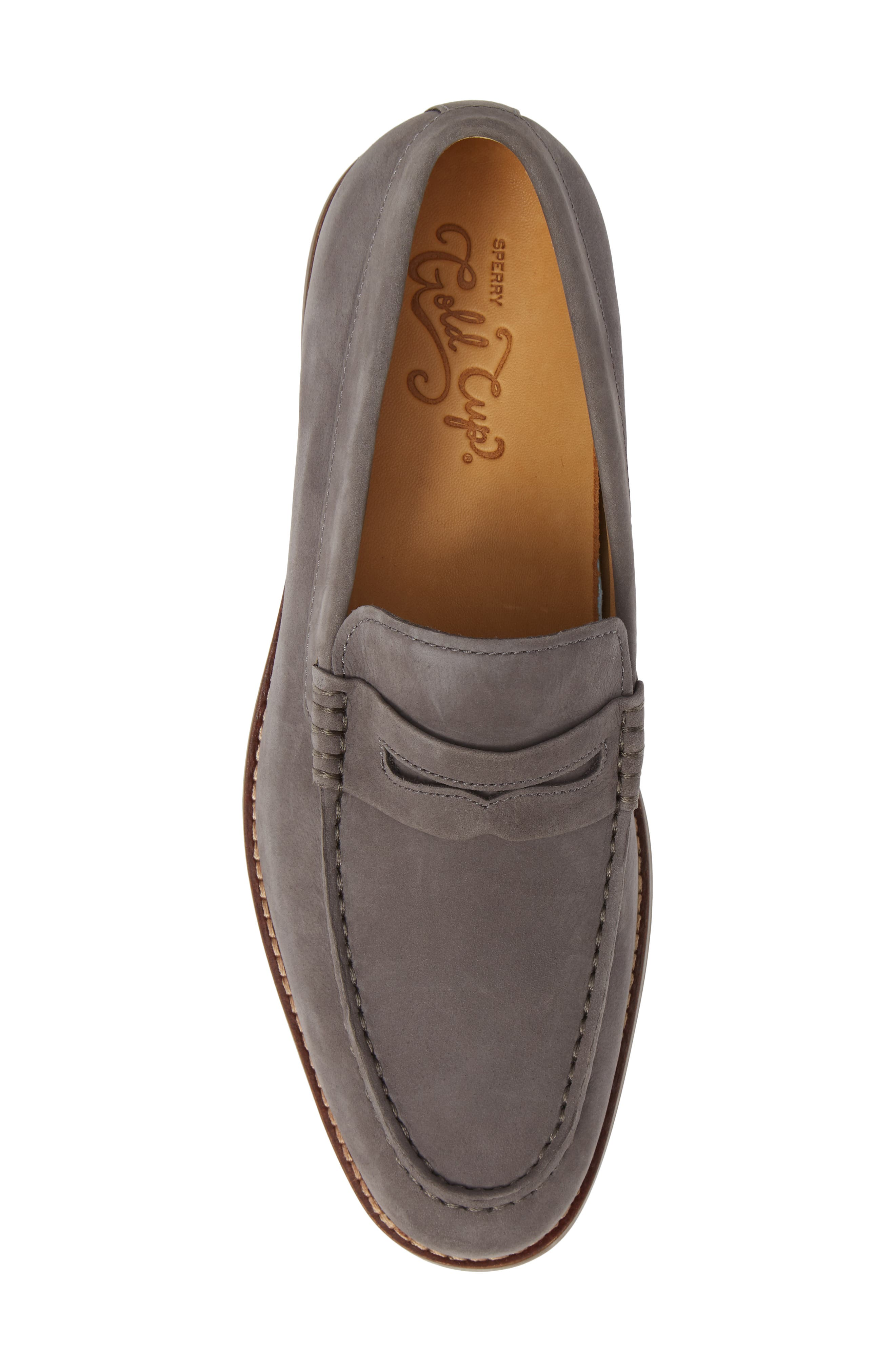 Gold Cup Exeter Penny Loafer,                             Alternate thumbnail 5, color,                             GREY