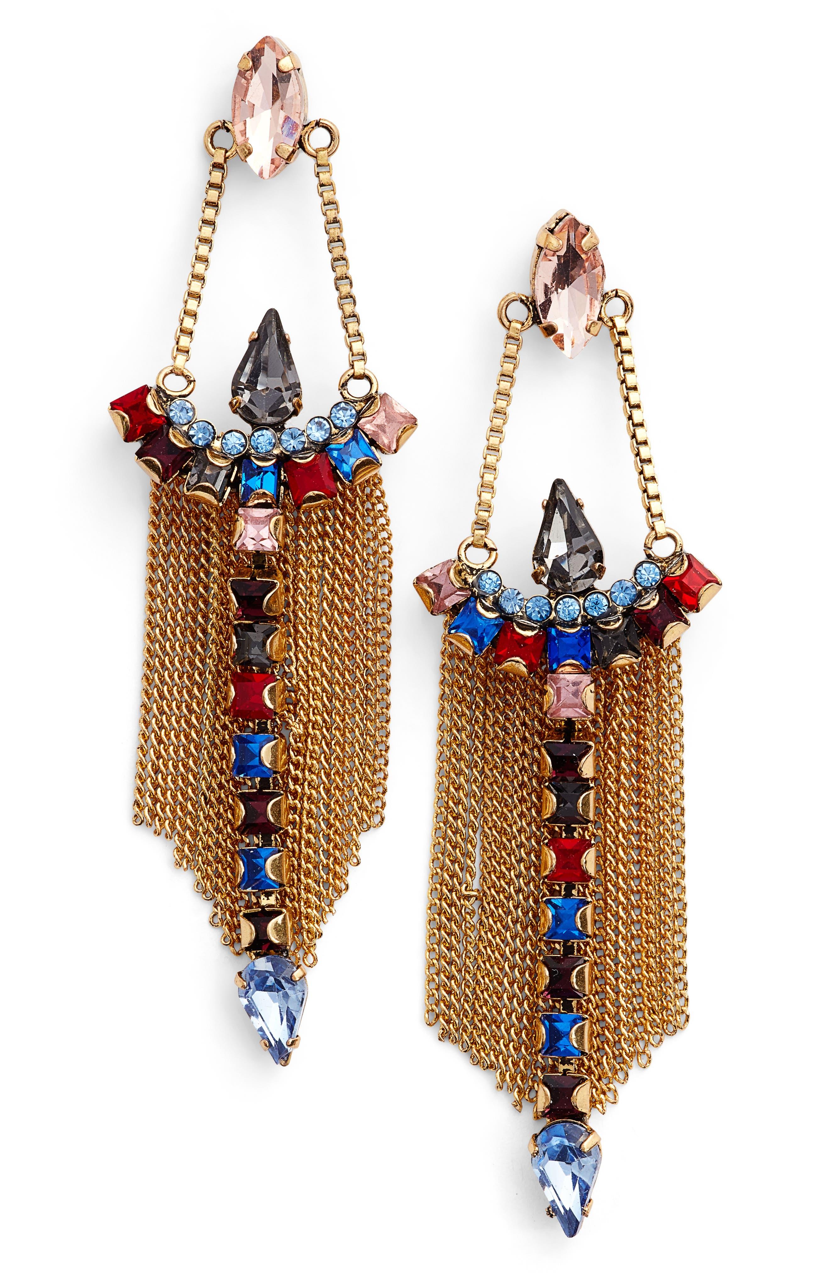 Clara Chandelier Earrings,                             Main thumbnail 2, color,