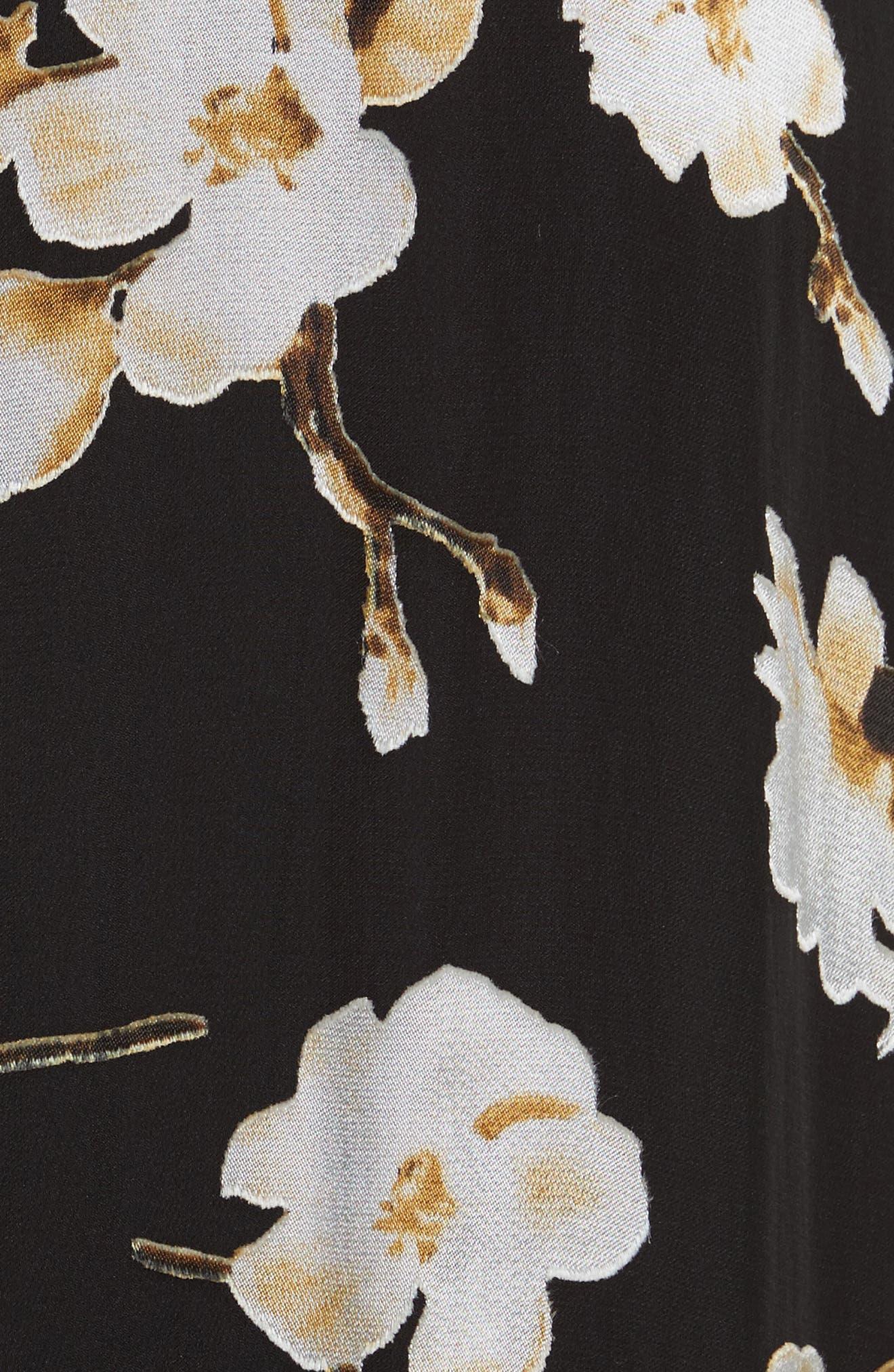 Fabiola Asymmetrical Ruffle A-Line Dress,                             Alternate thumbnail 5, color,