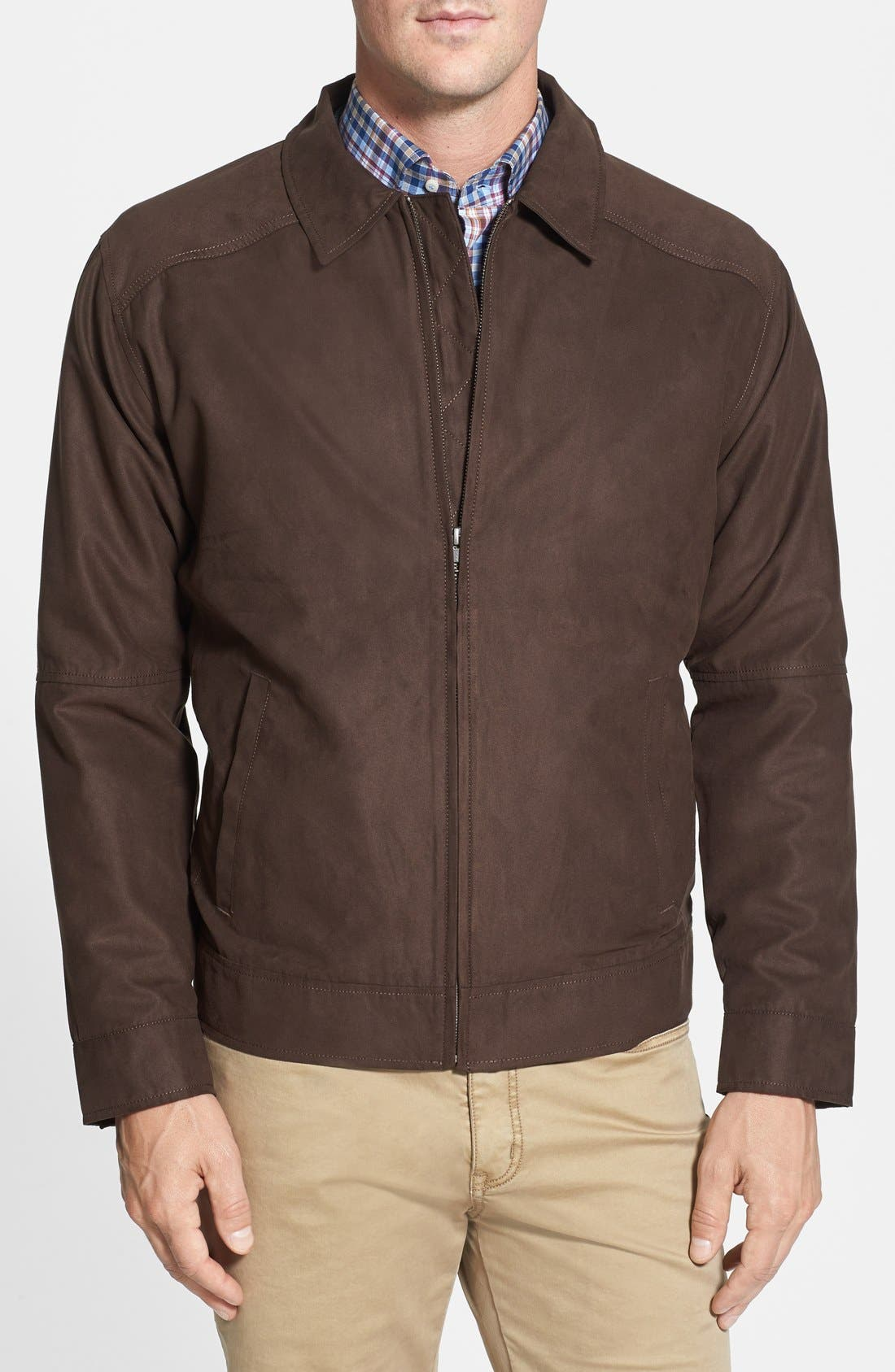 Roosevelt Water Resistant Full Zip Jacket,                         Main,                         color, BITTERSWEET BROWN