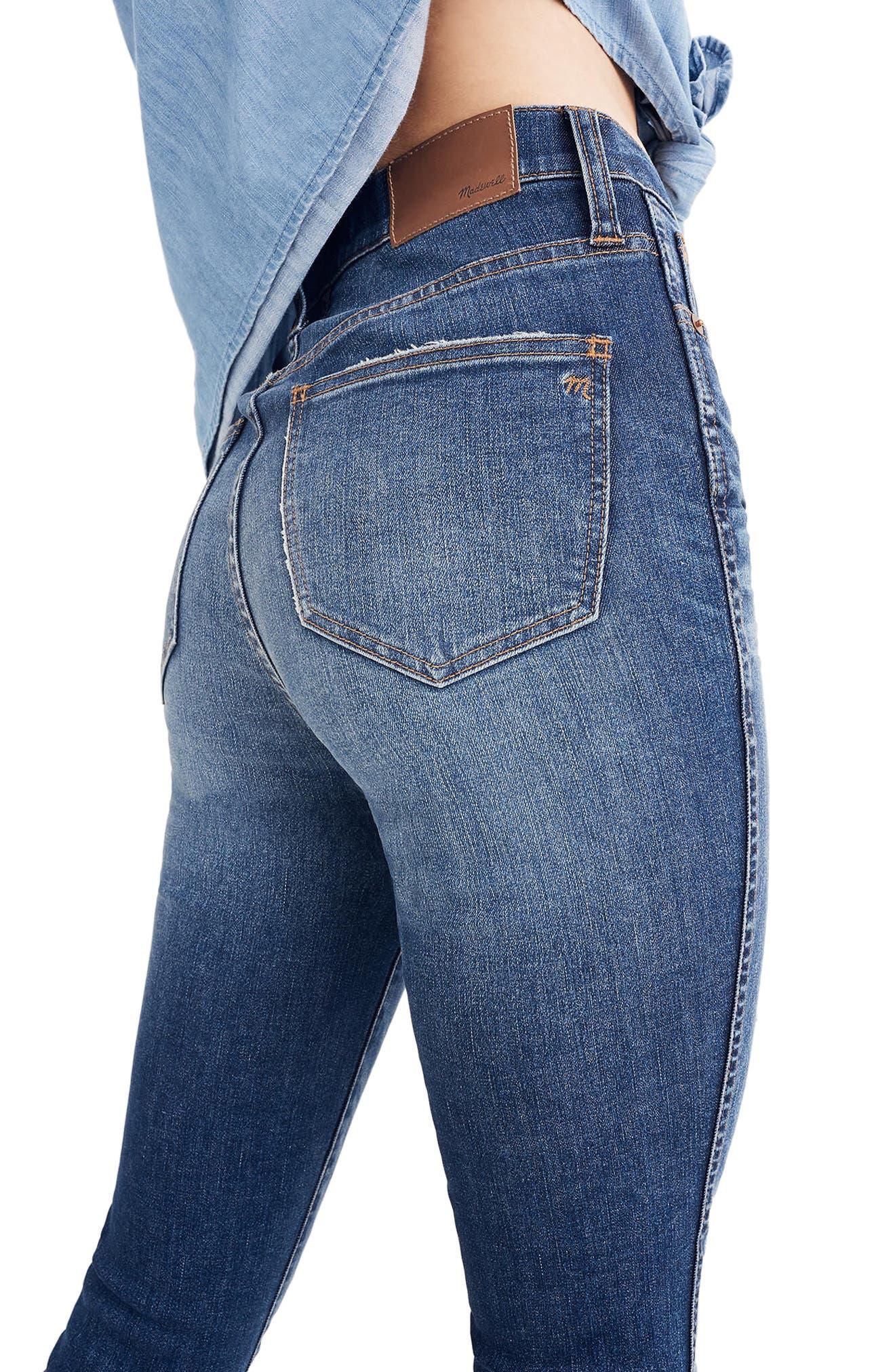 10-Inch High Waist Drop Hem Skinny Jeans,                             Alternate thumbnail 2, color,                             ROSE CLIFF