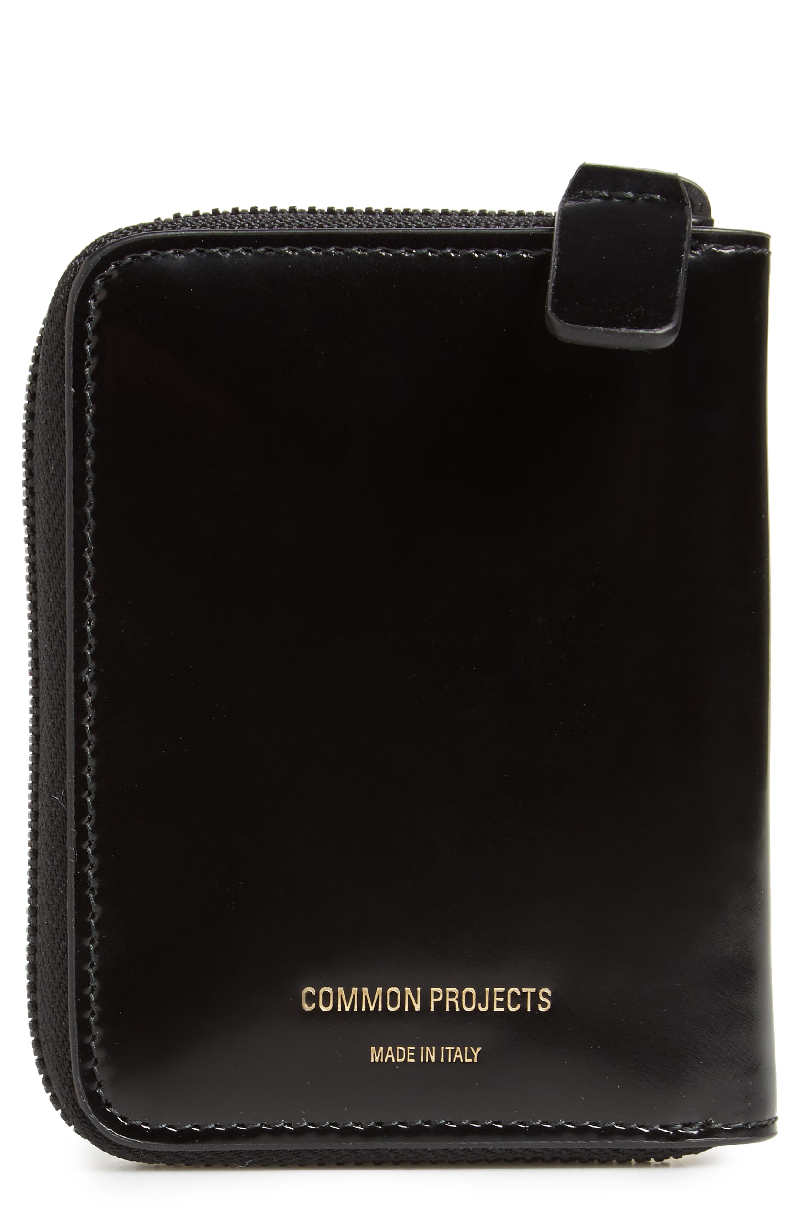 Patent Leather Zip Wallet,                         Main,                         color, 001