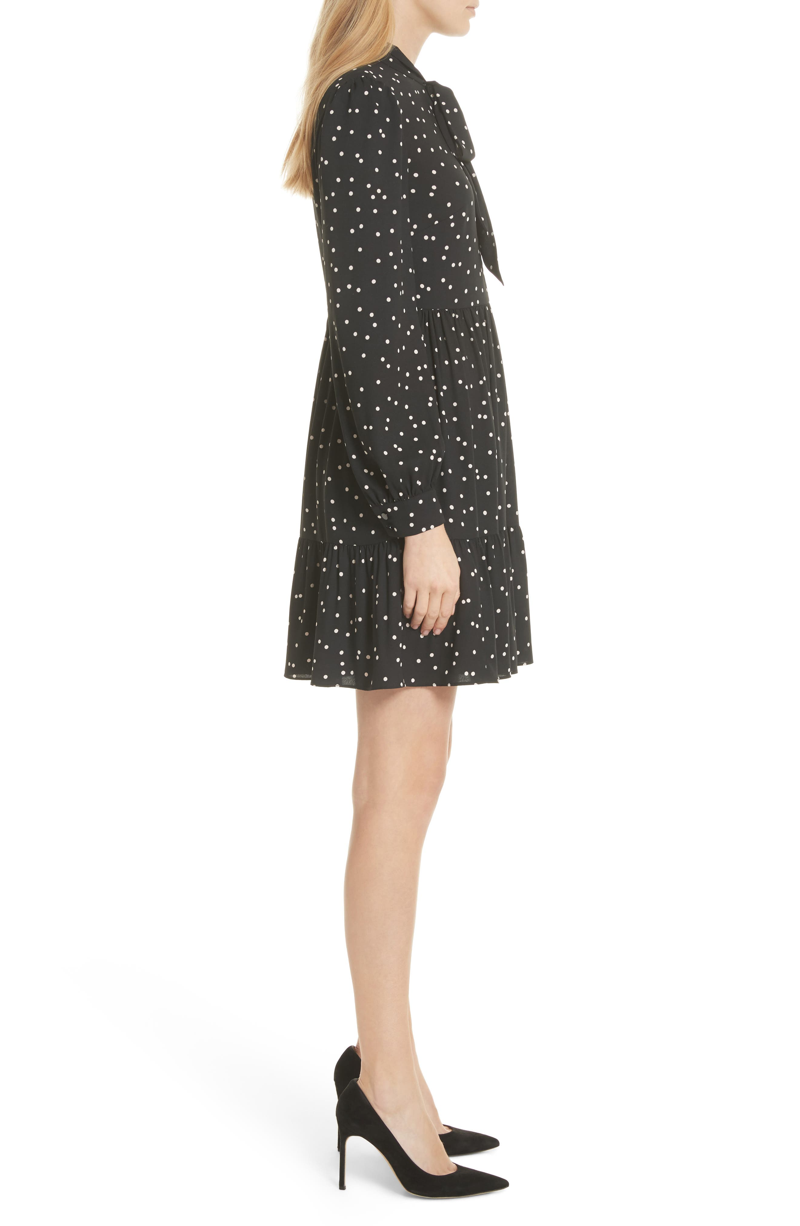 scatter dot shirtdress,                             Alternate thumbnail 3, color,                             001
