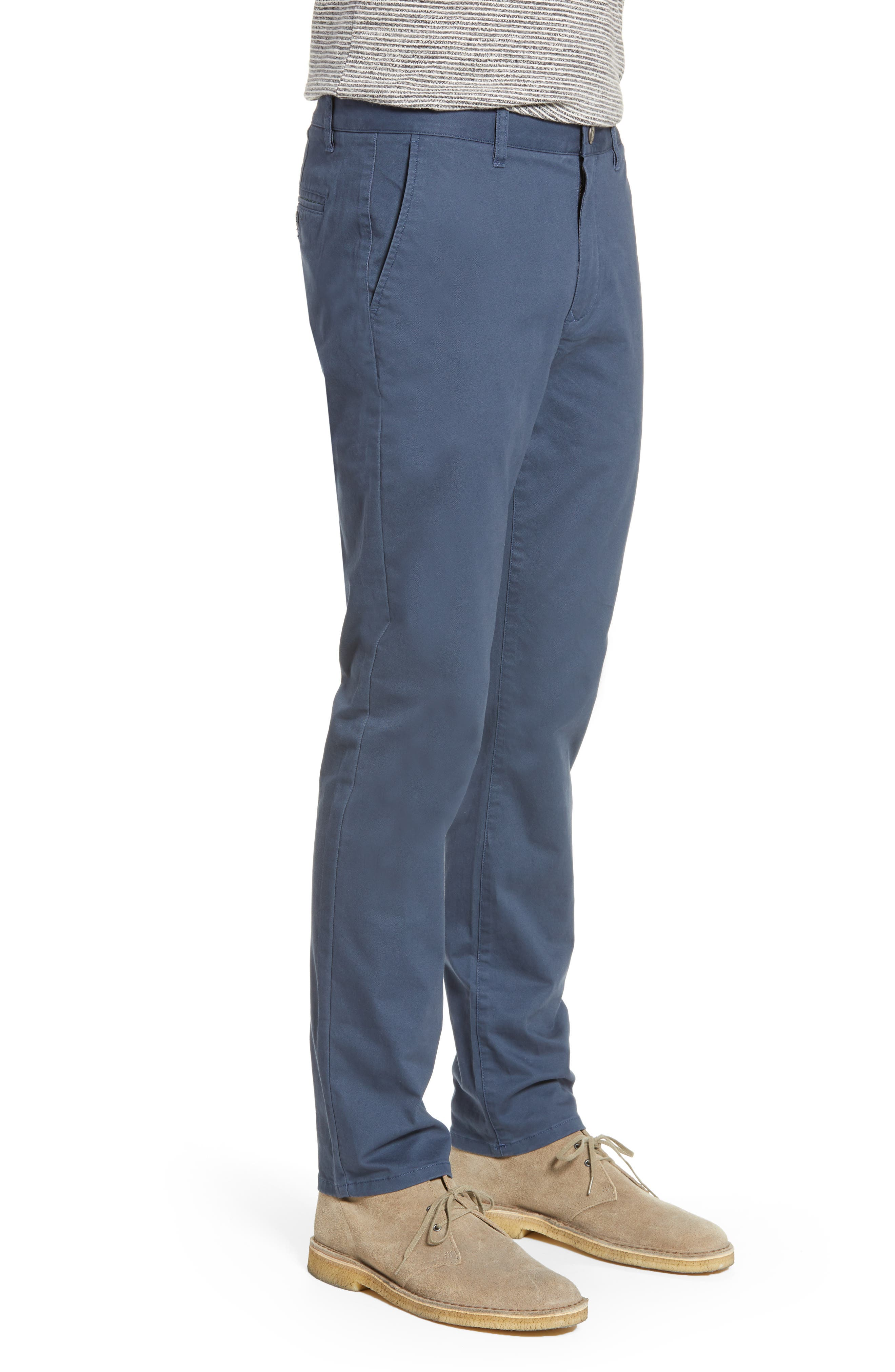 BONOBOS,                             Tailored Fit Washed Stretch Cotton Chinos,                             Alternate thumbnail 3, color,                             STEELY
