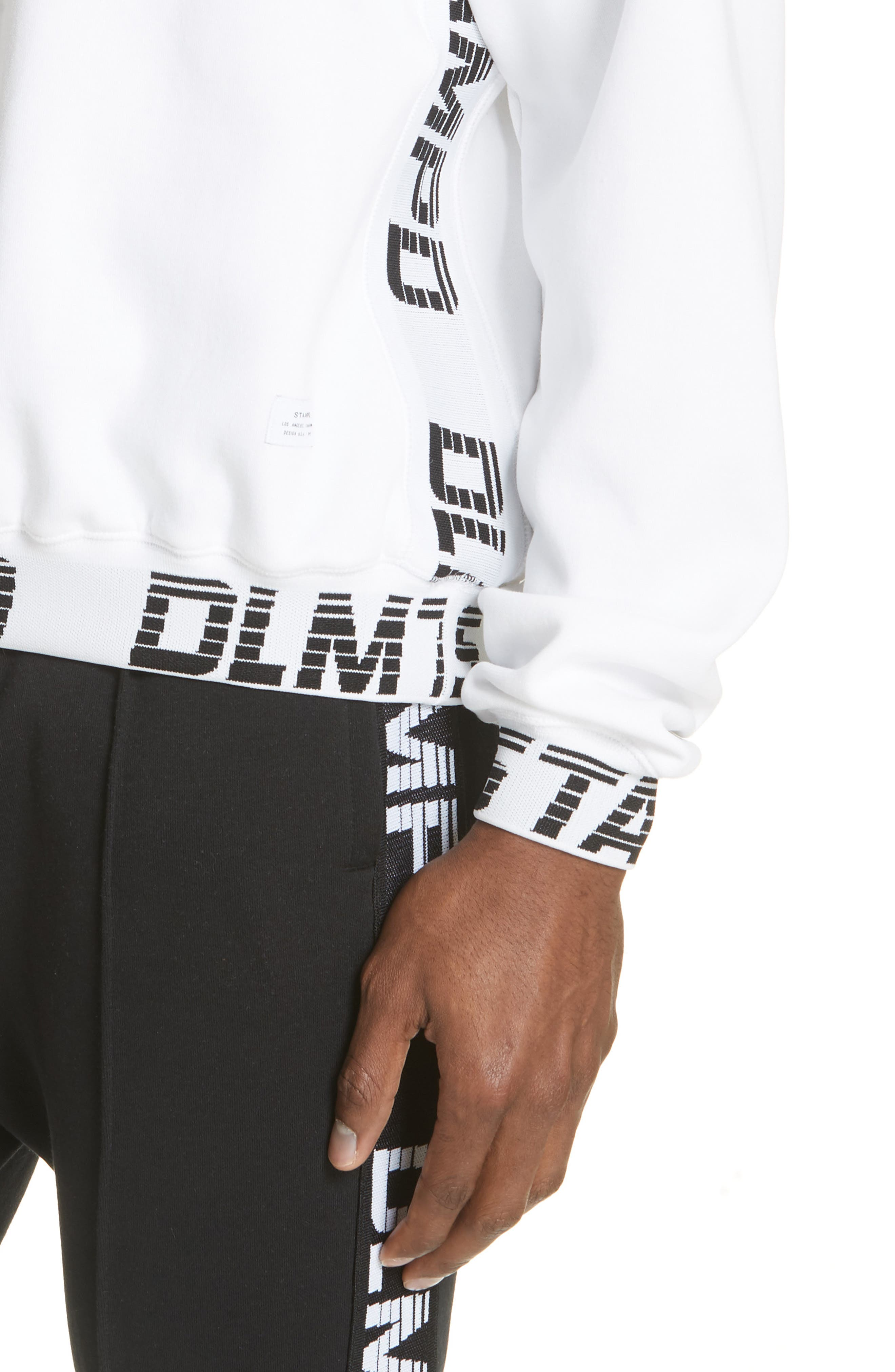 Driver Crewneck Sweatshirt,                             Alternate thumbnail 4, color,                             WHITE