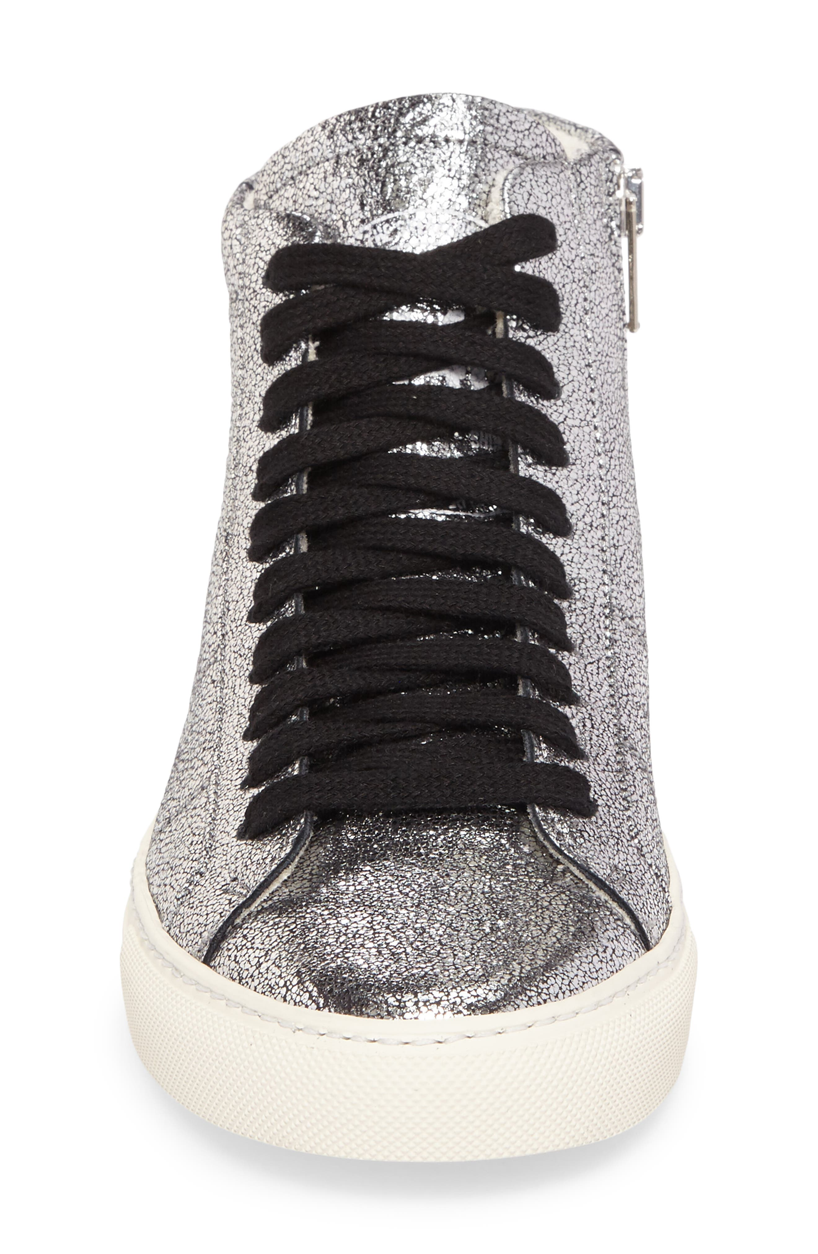 Star 2.0 Sneaker,                             Alternate thumbnail 4, color,                             SILVER LEATHER
