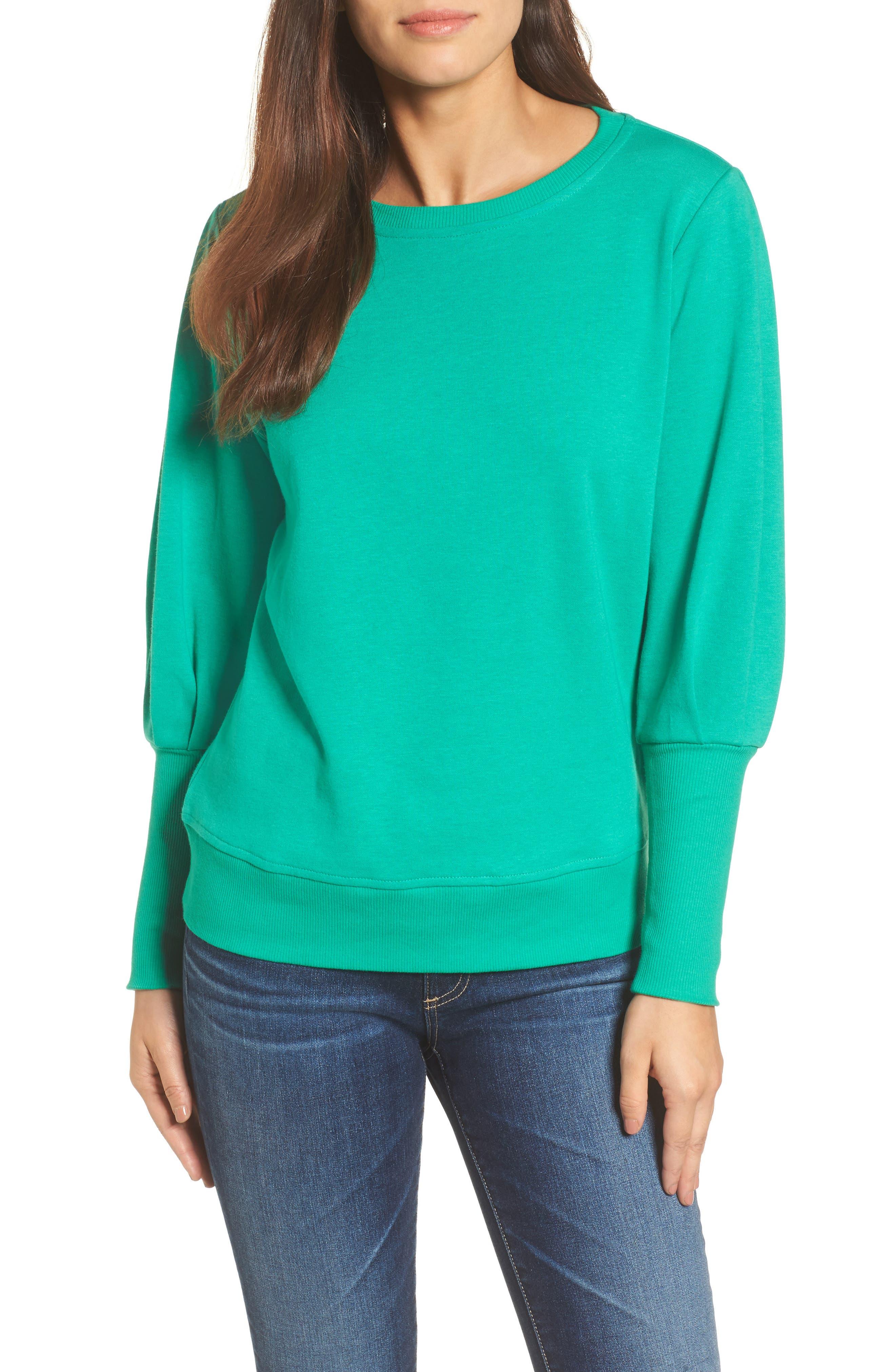 Blouson Sleeve Sweatshirt,                             Main thumbnail 3, color,