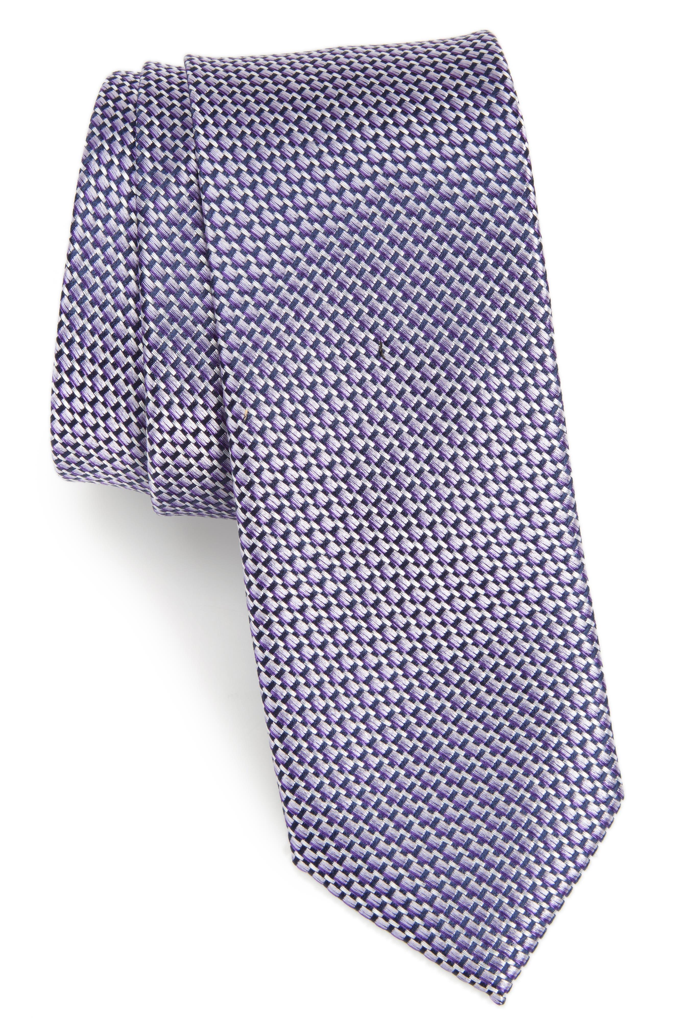 Iris Solid Silk Skinny Tie,                             Main thumbnail 4, color,