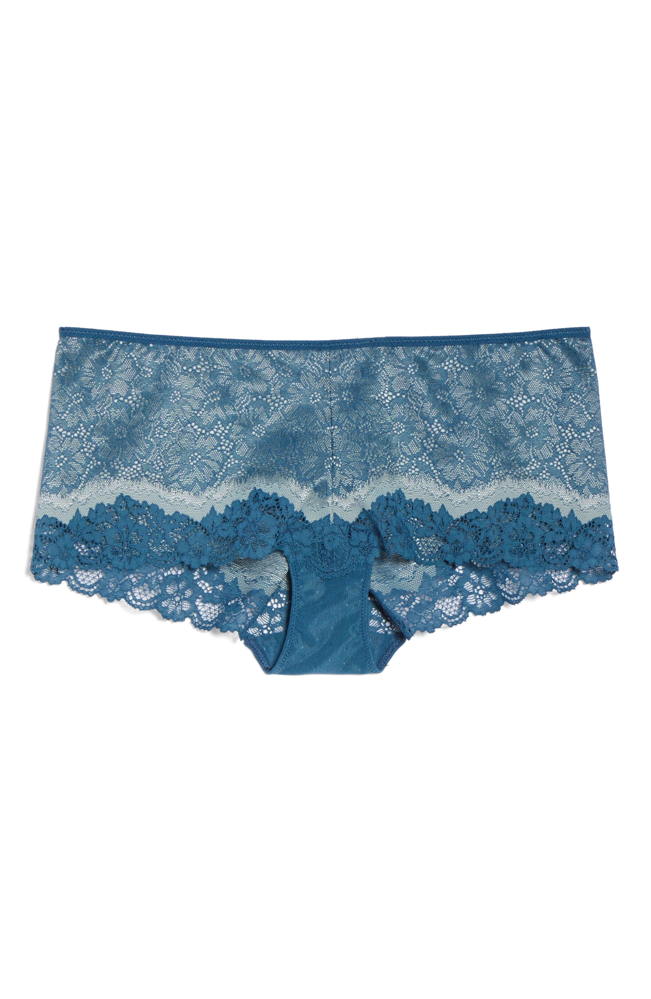 Lace Boyshorts,                             Alternate thumbnail 6, color,                             MAJOLICA BLUE/ SLATE
