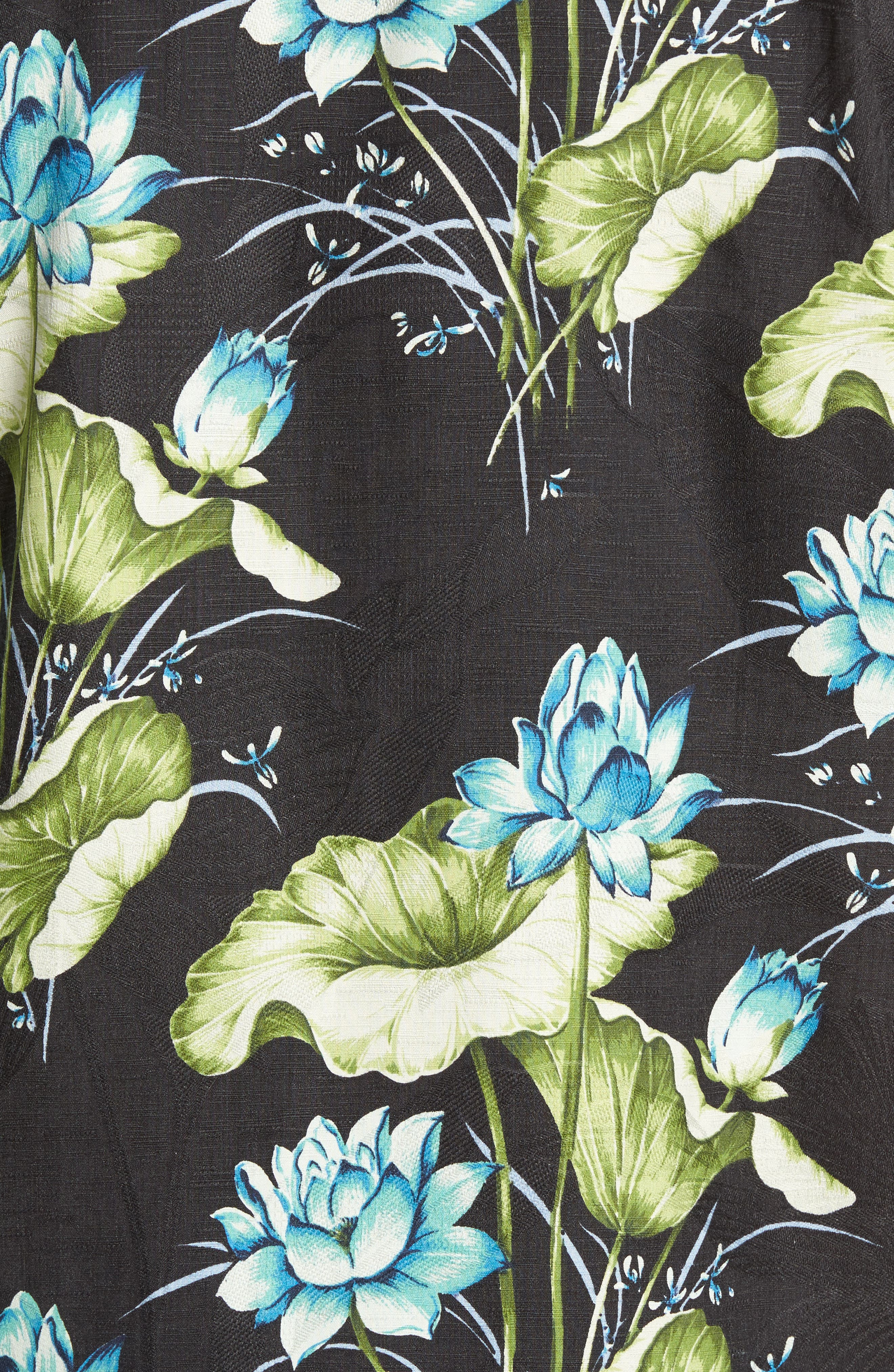 Adriatic Garden Silk Blend Camp Shirt,                             Alternate thumbnail 5, color,                             021