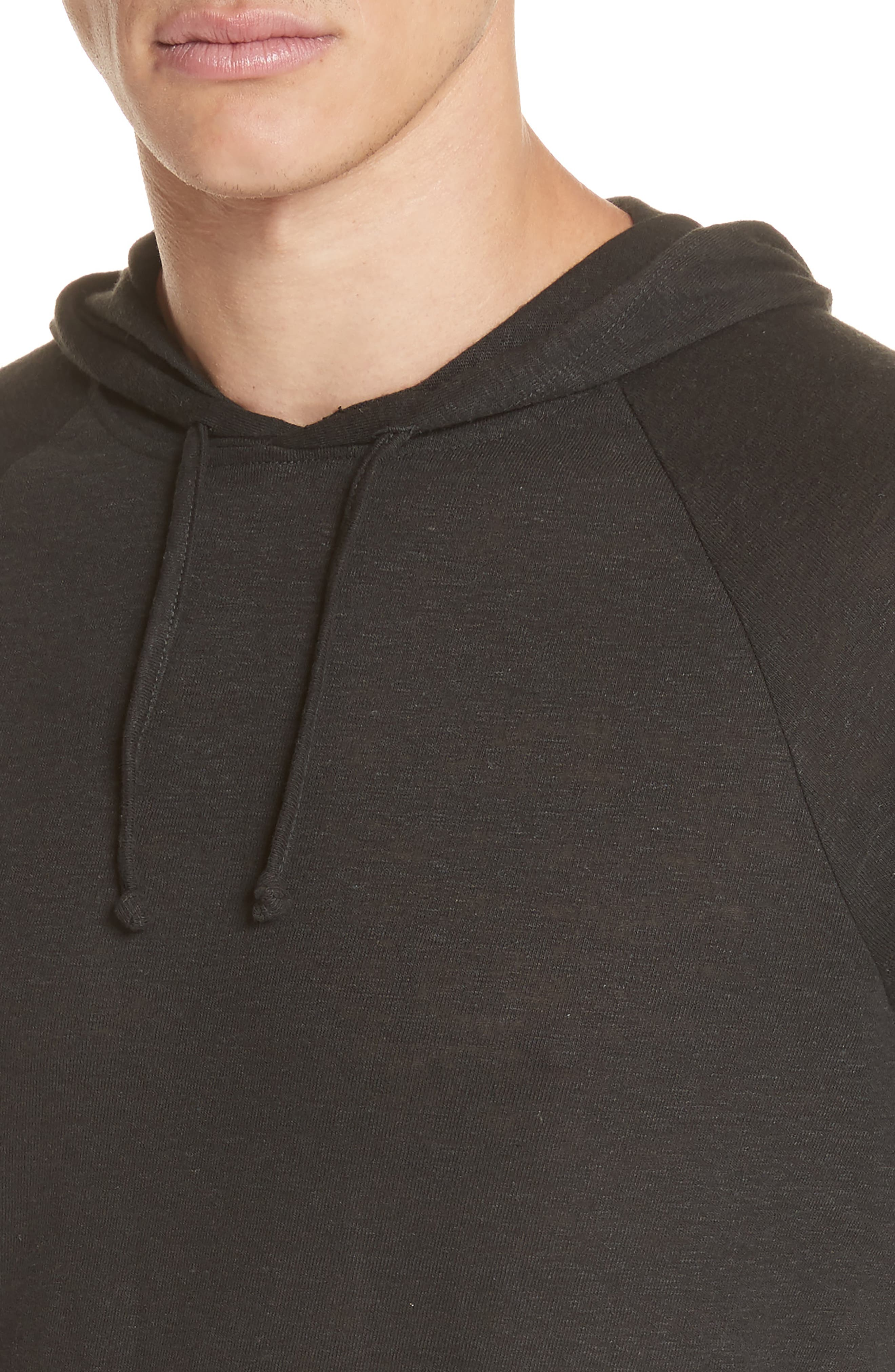 Pullover Hoodie,                             Alternate thumbnail 4, color,                             BLACK