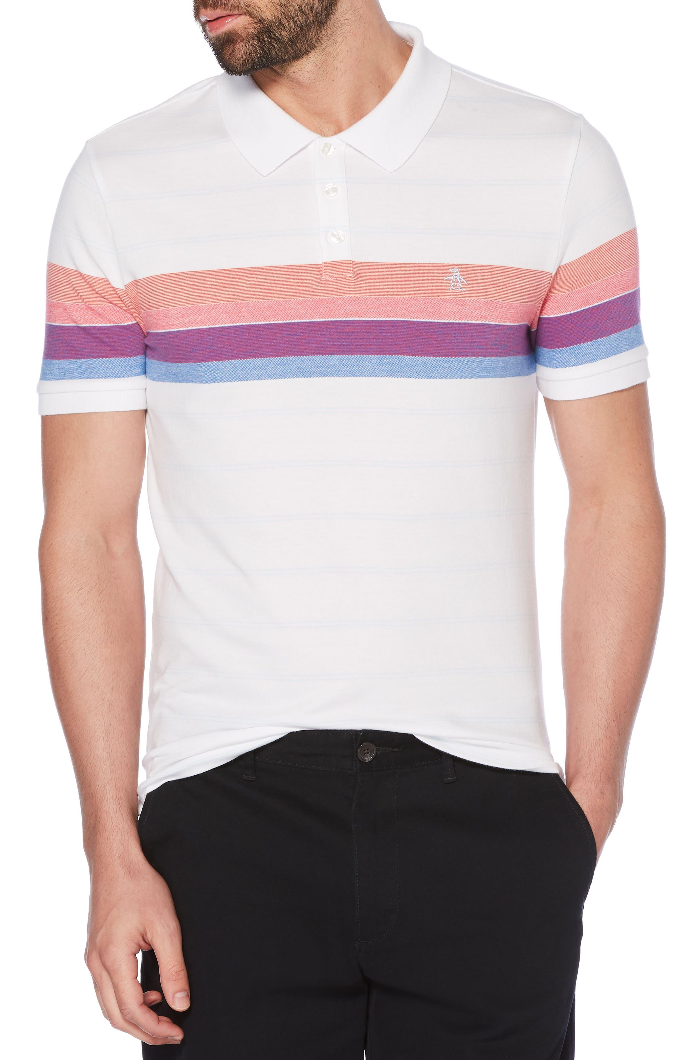 Engineered Stripe Polo,                             Main thumbnail 1, color,                             118
