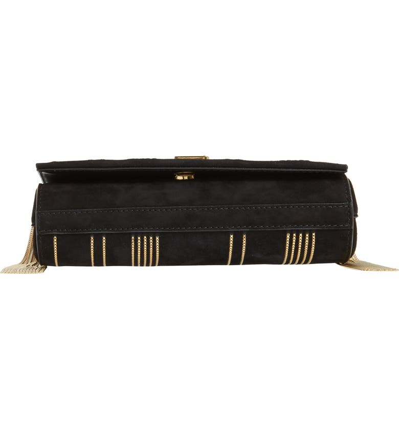 Saint Laurent Kate Monogram Ysl Small Suede Tassel Side