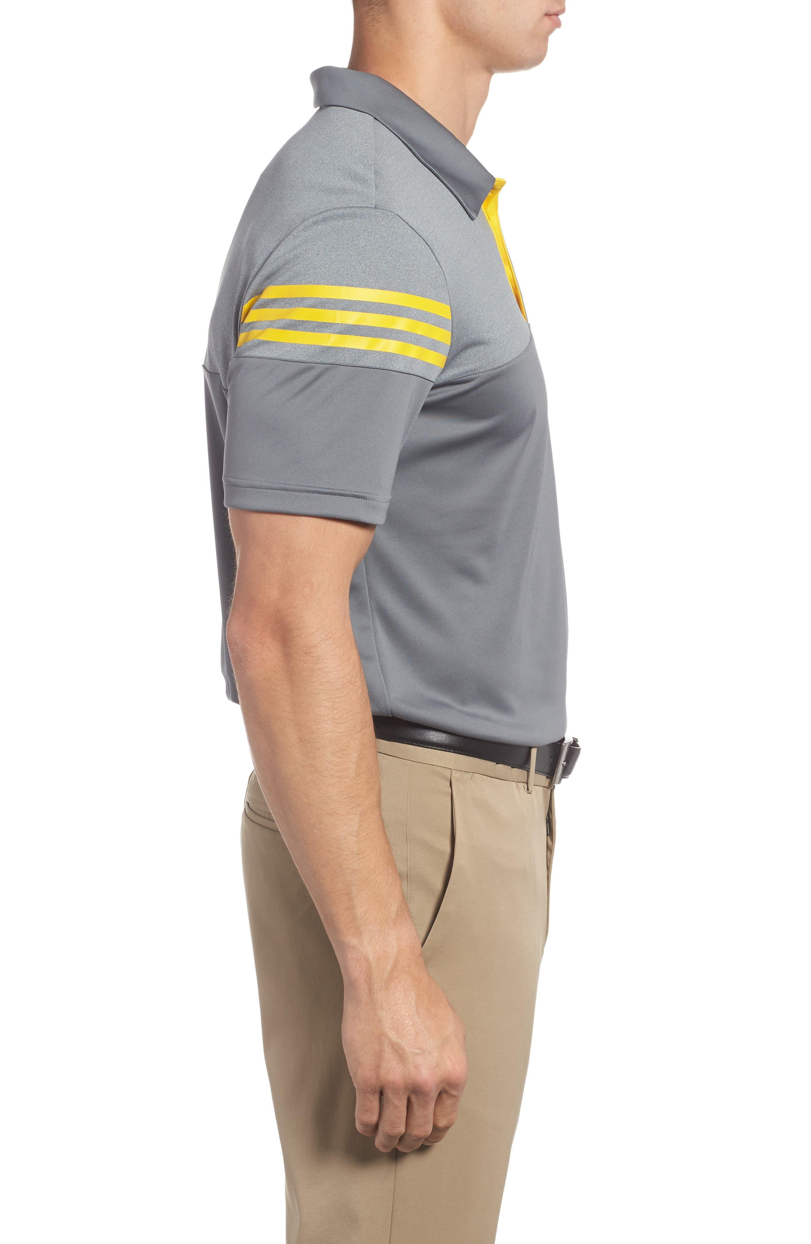 Regular Fit 3-Stripes Golf Polo,                             Alternate thumbnail 3, color,                             086