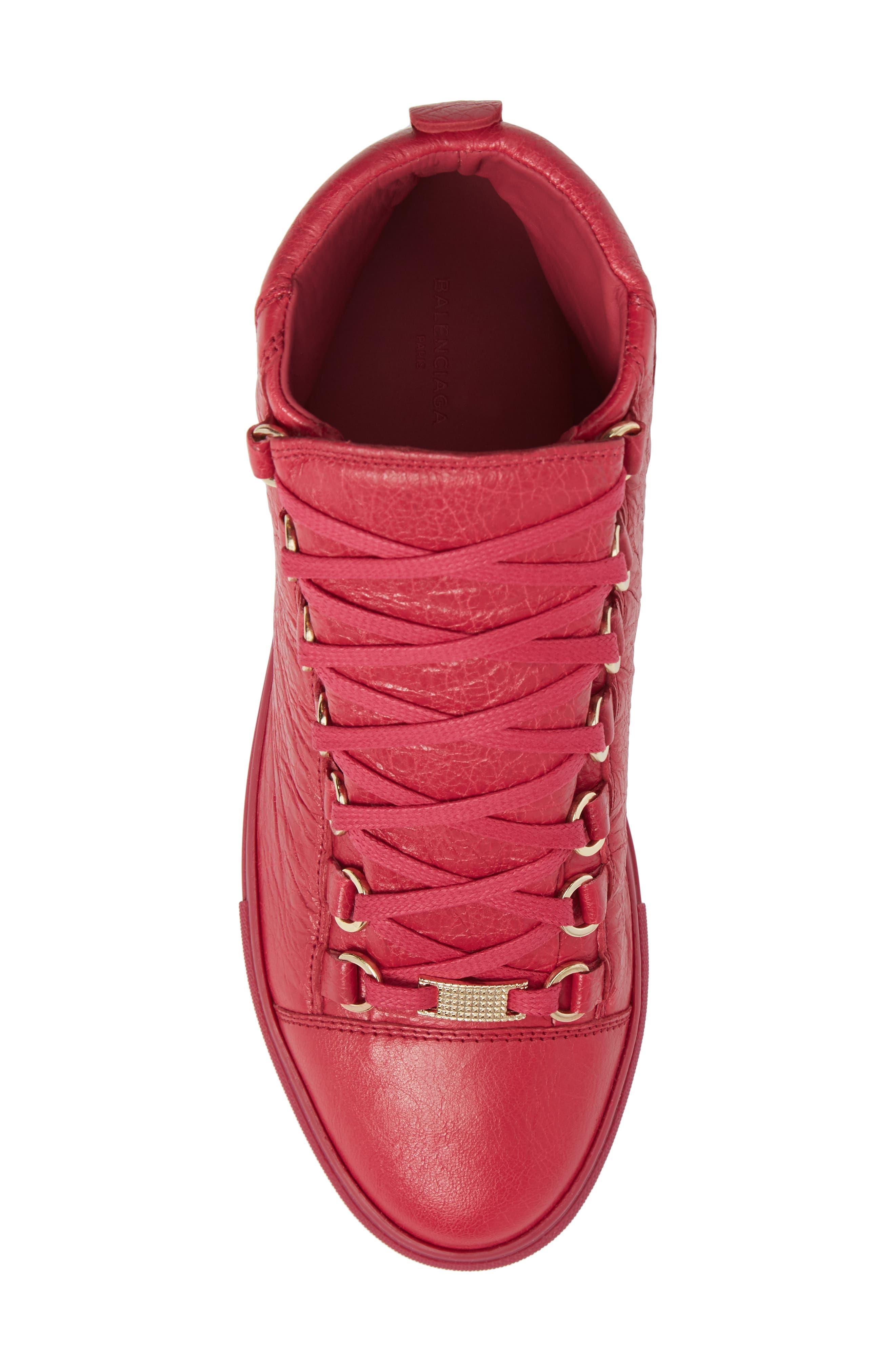 BALENCIAGA,                             High Top Sneaker,                             Alternate thumbnail 5, color,                             600