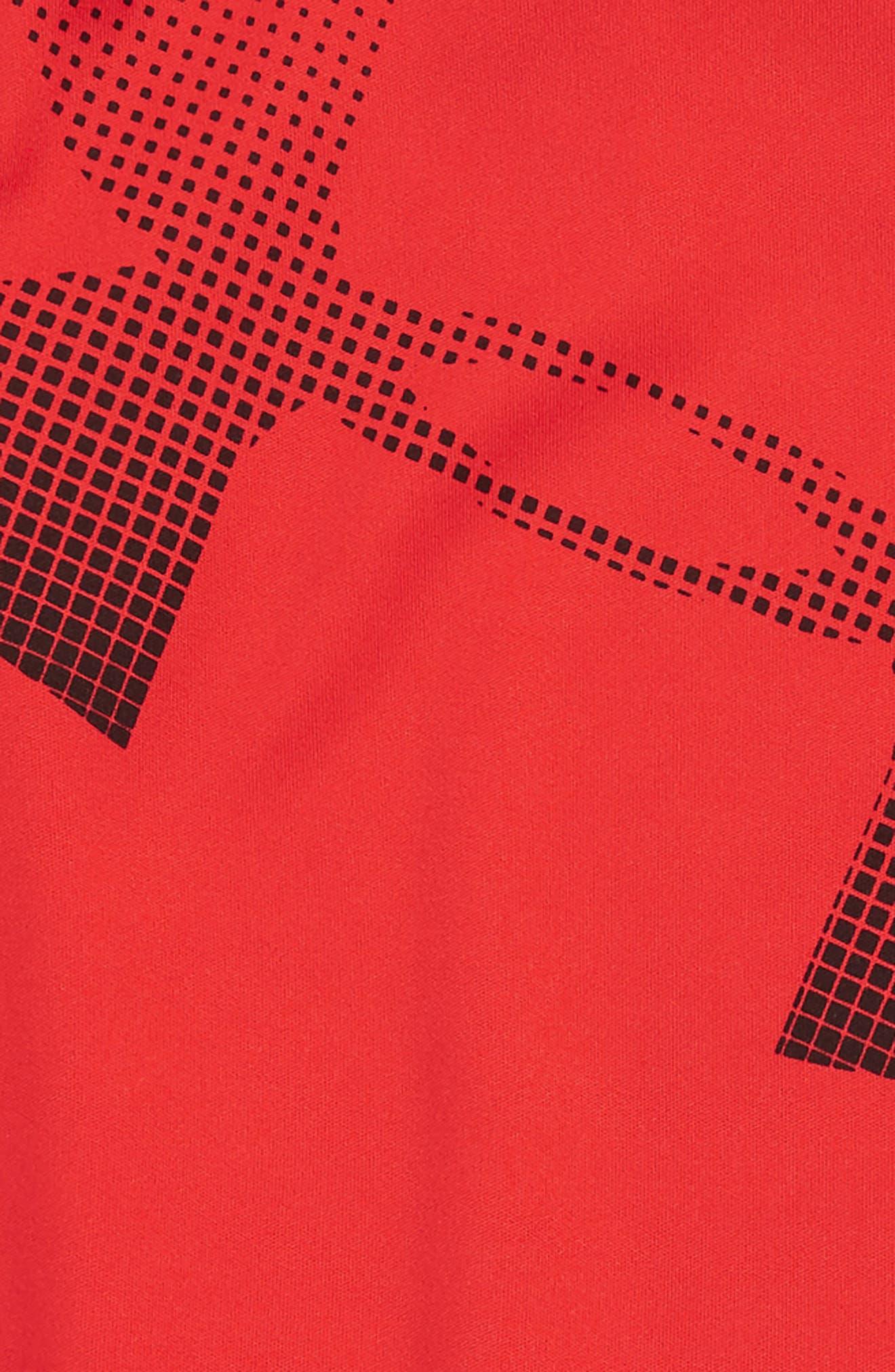 Big Logo Romper,                             Alternate thumbnail 2, color,                             RED