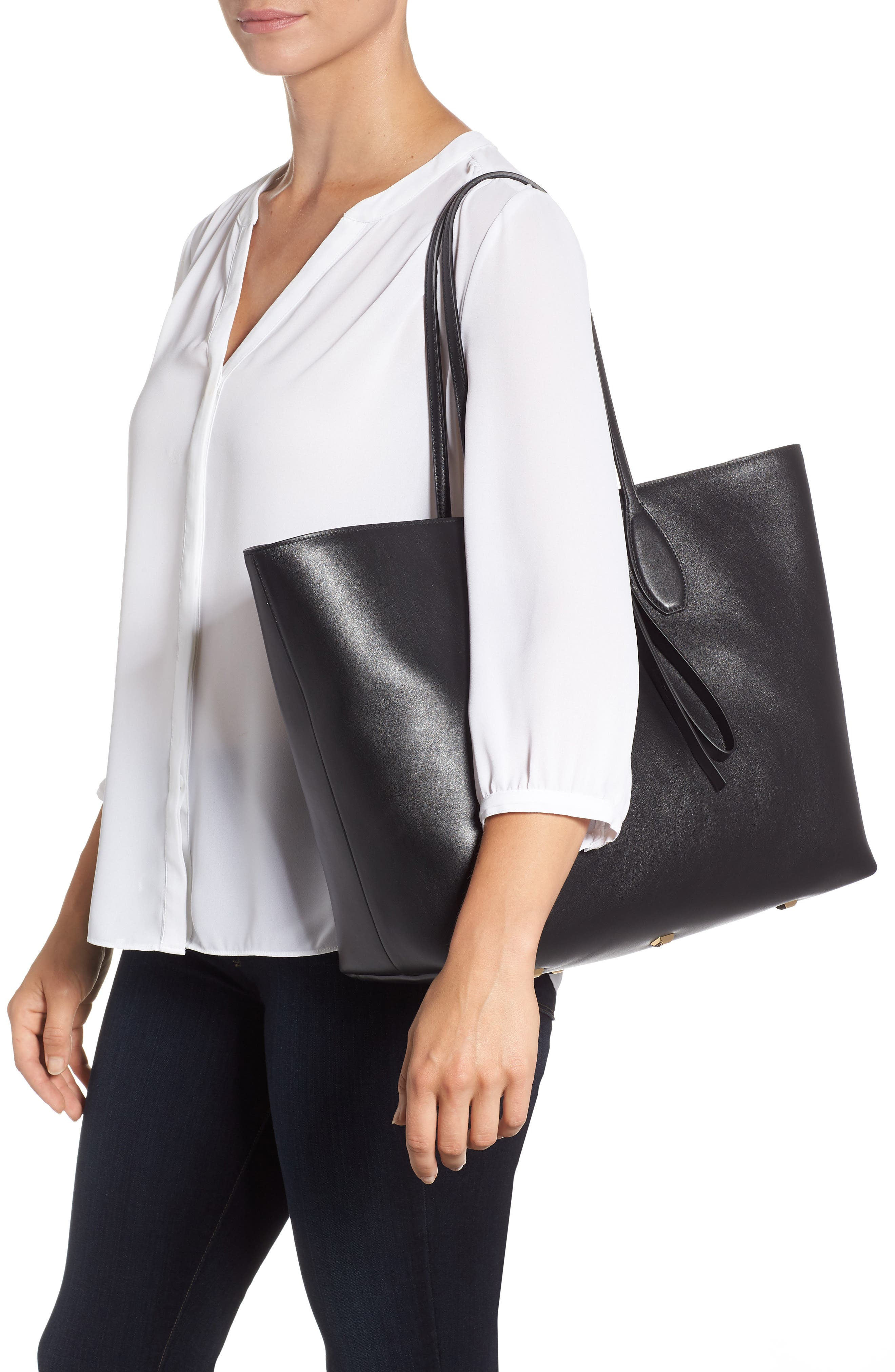 The Studio Leather Tote,                             Alternate thumbnail 2, color,