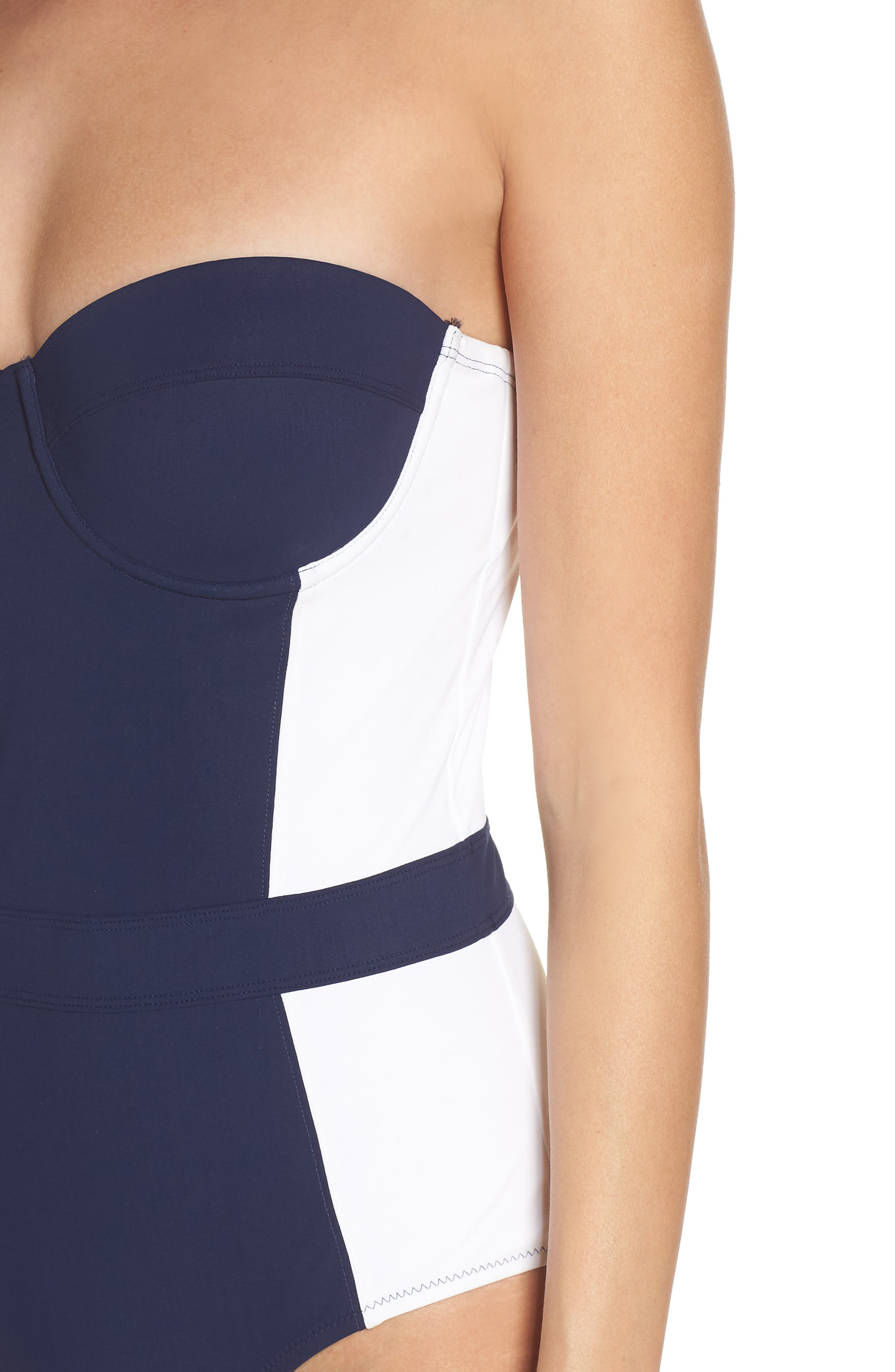 'Lipsi' Underwire One-Piece Swimsuit,                             Alternate thumbnail 5, color,                             TORY NAVY / WHITE