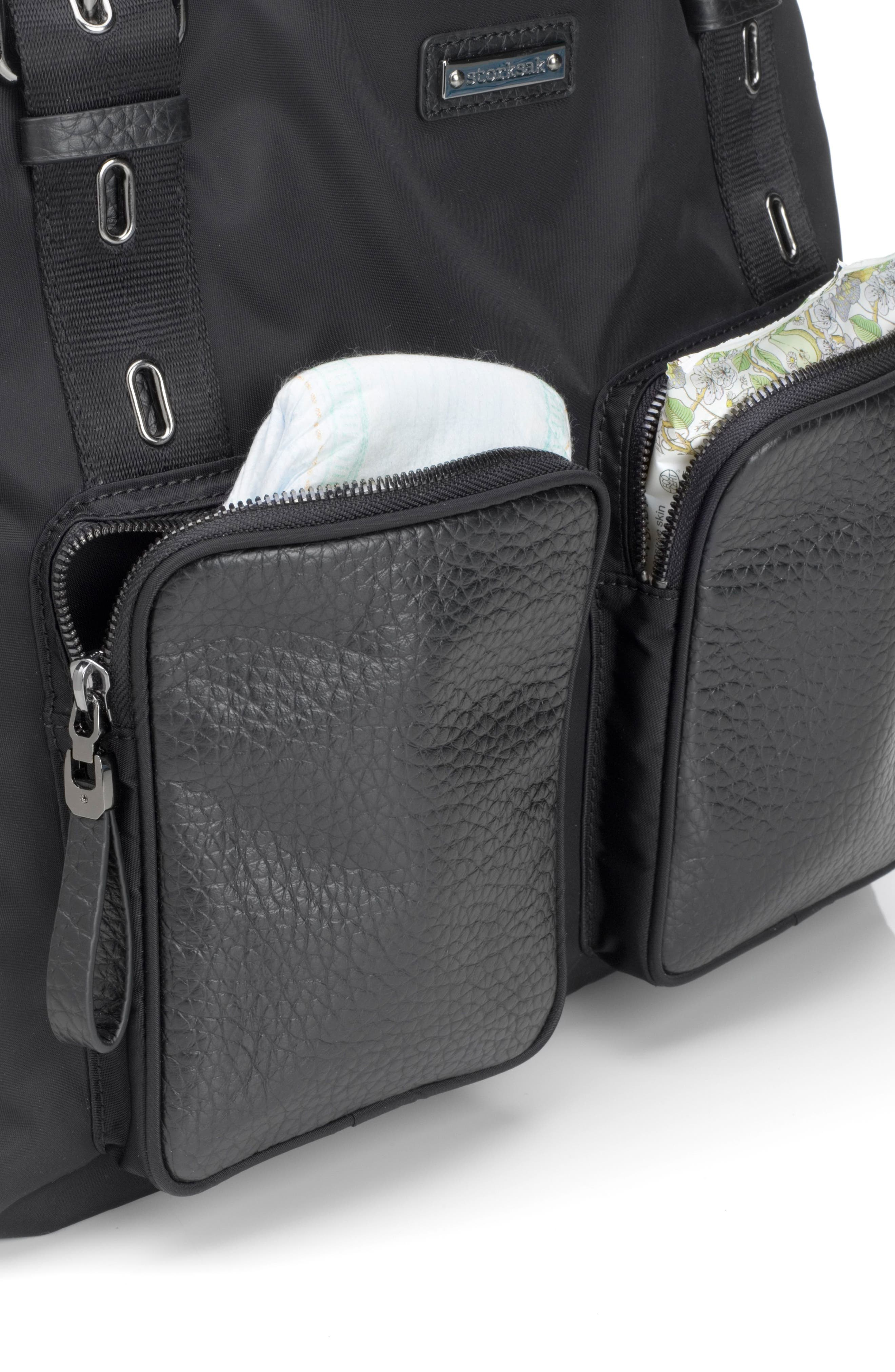 Alexa Luxe Diaper Bag,                             Alternate thumbnail 4, color,                             BLACK