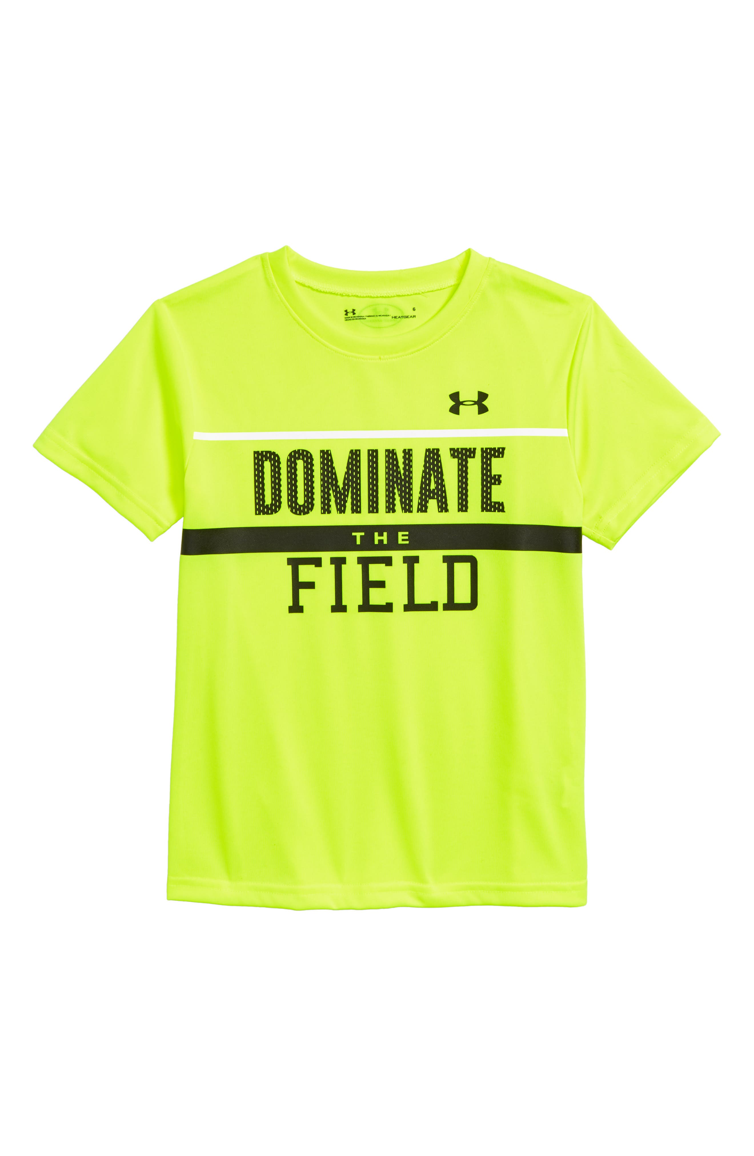 Dominate the Field HeatGear<sup>®</sup> T-Shirt,                         Main,                         color, 730