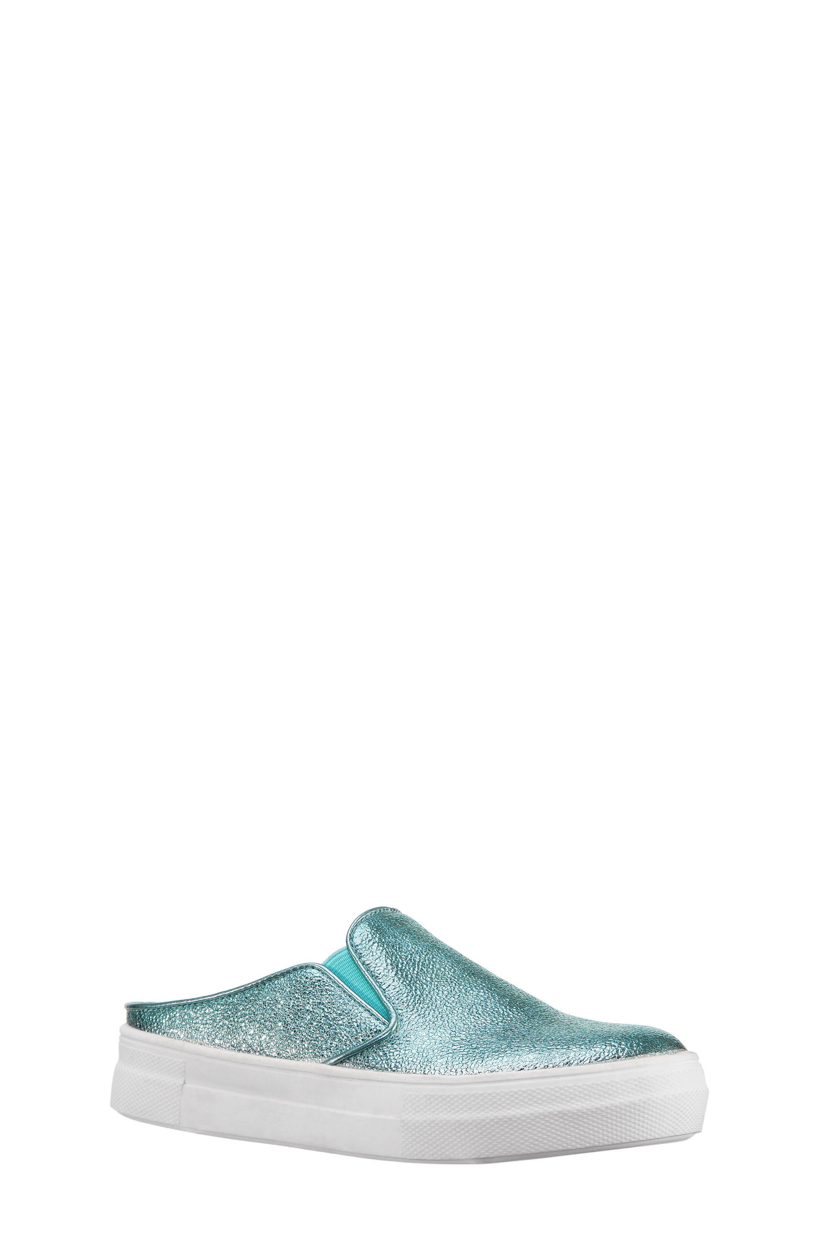Gail Metallic Slip-On Sneaker Mule,                             Main thumbnail 2, color,