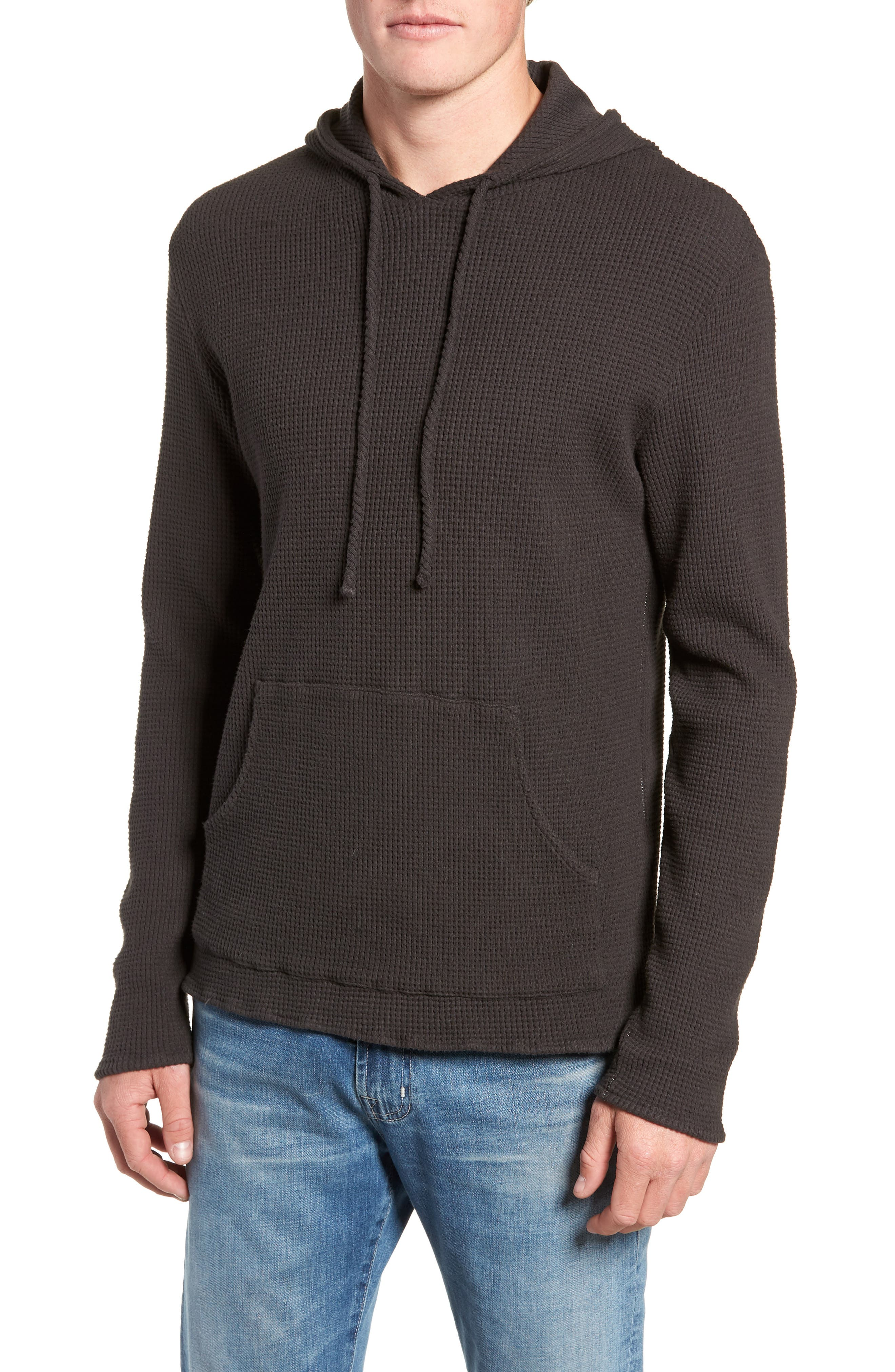 Thermal Knit Pullover Hoodie, Main, color, 020